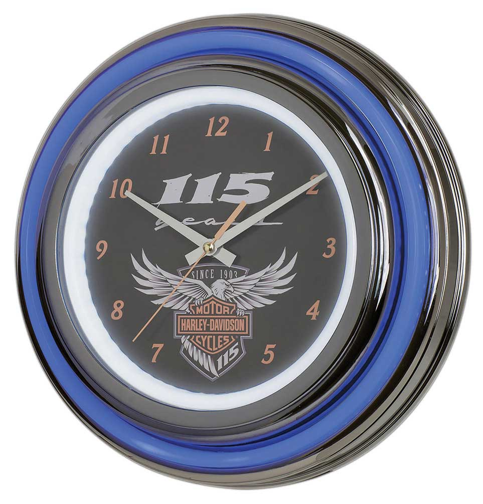Harley-Davidson 115th Anniversary Neon Clock LED Limited