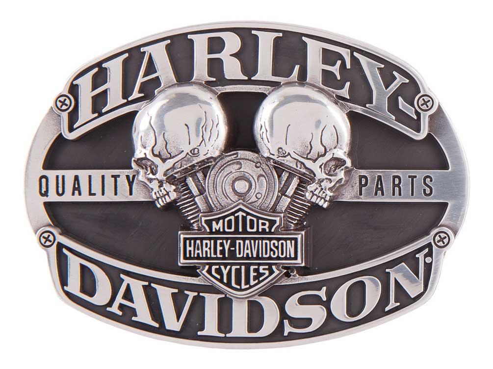 07320e1a87a85e Harley-Davidson Men's Motorhead Skull Belt Buckle, Antique Silver HDMBU11419