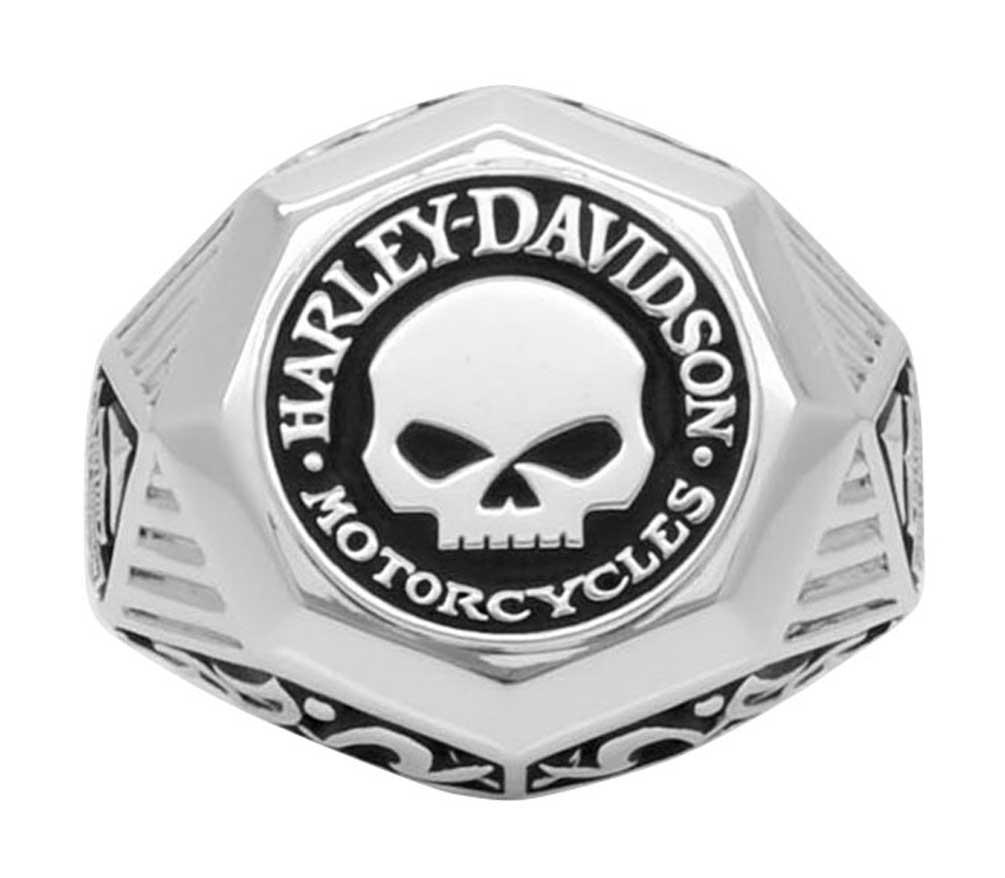 harley davidson mens sculpted willie g skull h d ring. Black Bedroom Furniture Sets. Home Design Ideas
