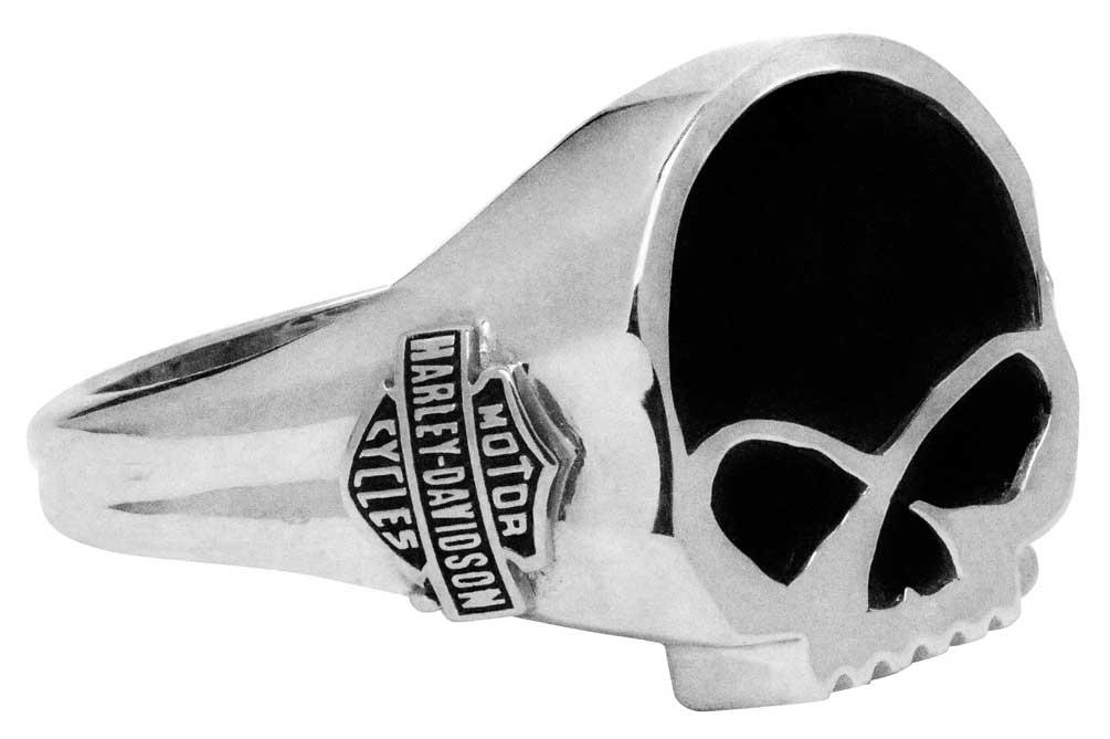 Harley Davidson Men S Black Onyx Willie G Skull Ring