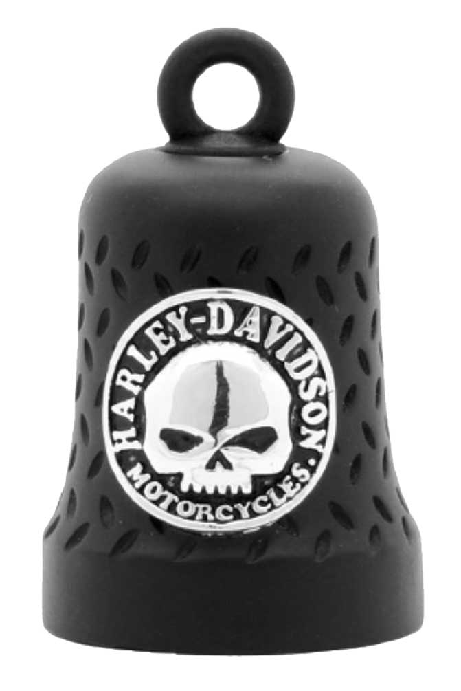 Harley Davidson Willie G Skull Diamond Plated Ride Bell