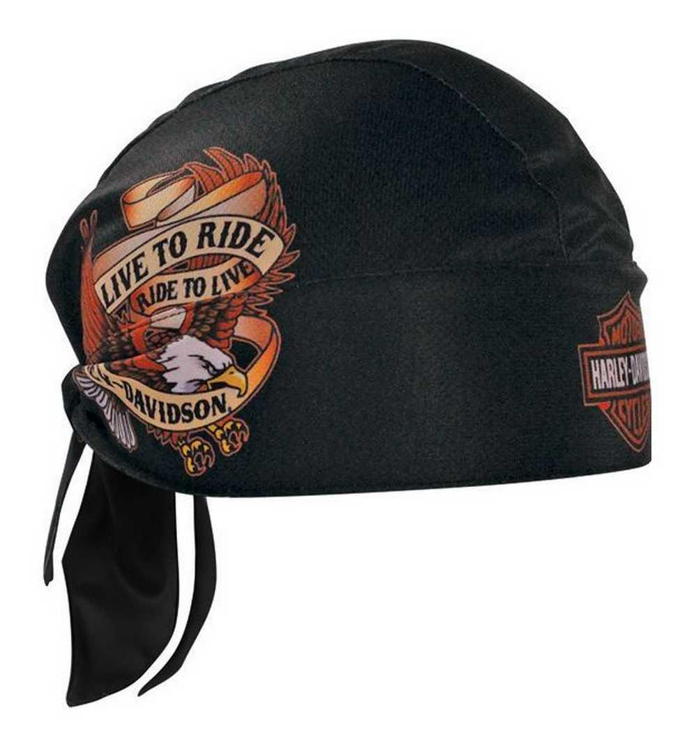 3c9f16f68 Details about Harley-Davidson Live To Ride Eagle Head Wrap Black HW00930