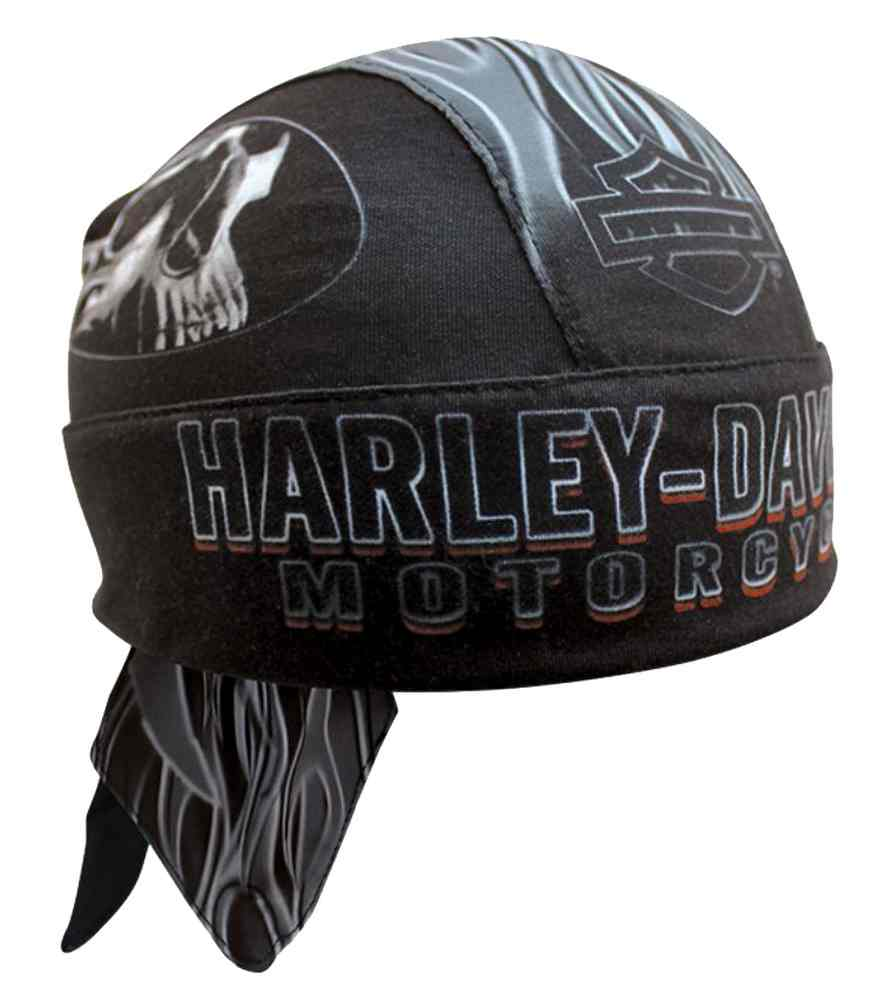 d04c360dece Harley-Davidson Men s Engulfed Flaming Skull Head Wrap