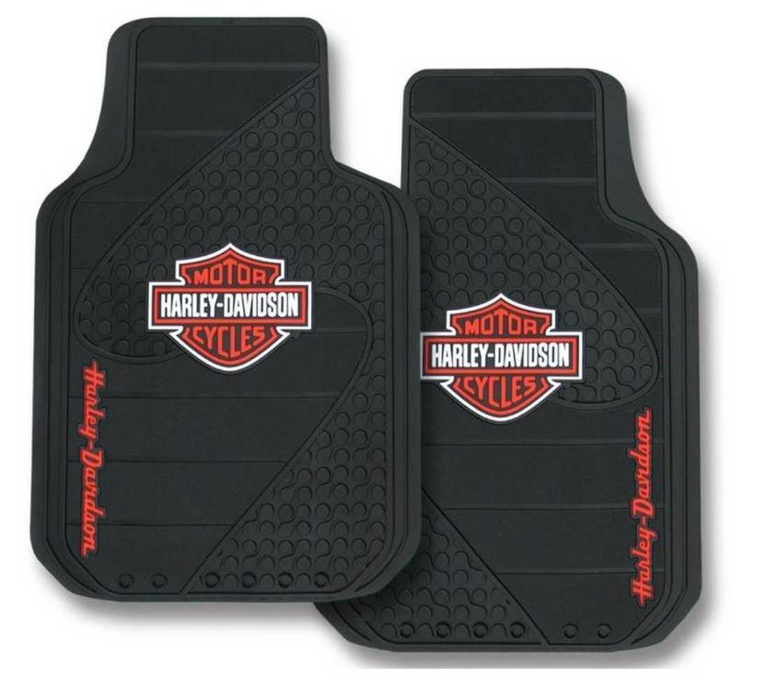 Harley Davidson Bar Amp Shield Factory Front Floor Mats Set