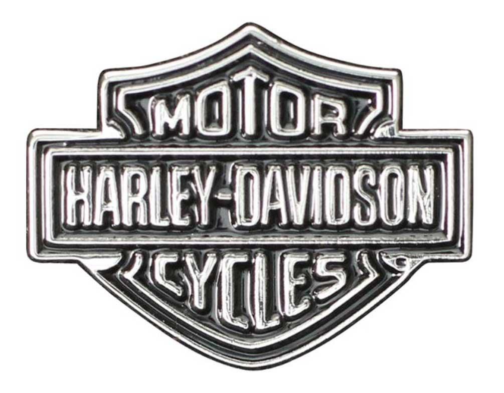 Harley Davidson Symbol: Harley-Davidson Bar & Shield Logo Lapel Pin, 2D Nickel