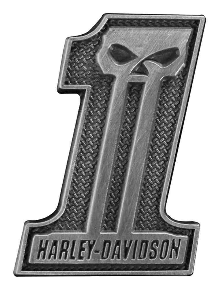 Harley davidson 1 skull pin antiqued silver finish x inch p718062 ebay - Sigle harley davidson ...