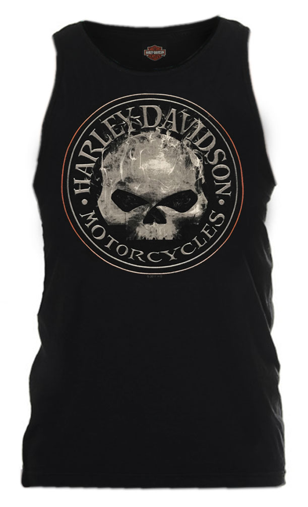 ae4f2e27351622 Harley-Davidson Men s Smokey Willie G Skull Sleeveless Tank