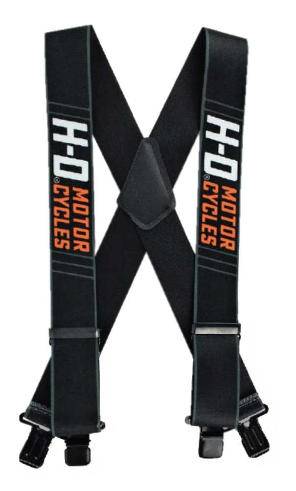 "3 Size Lengths Harley-Davidson Men/'s Traction H-D Suspenders 42/"" 48/"" or 54/"""