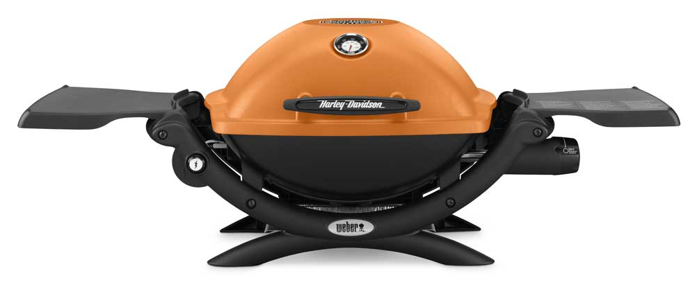 harley davidson weber q1200 bar shield portable outdoor gas grill whdq1200 ebay. Black Bedroom Furniture Sets. Home Design Ideas