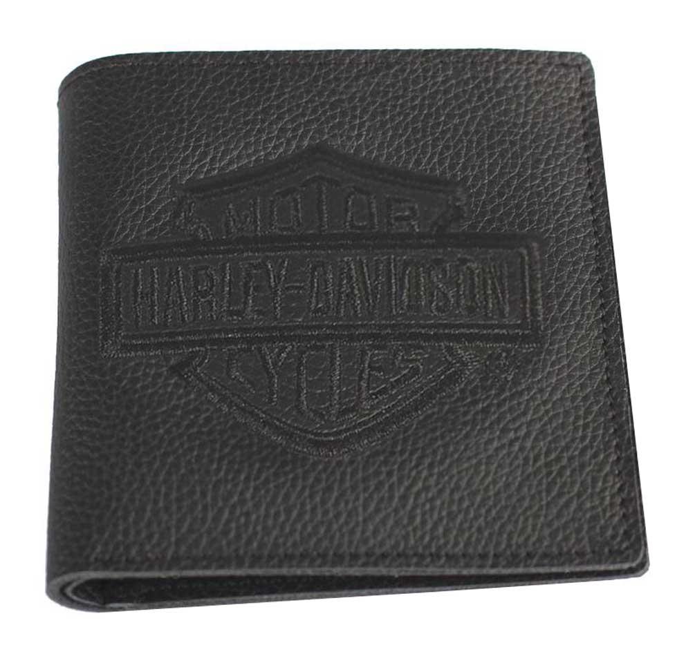 Harley Davidson Mens Embroidered B Amp S Tall Bi Fold Wallet