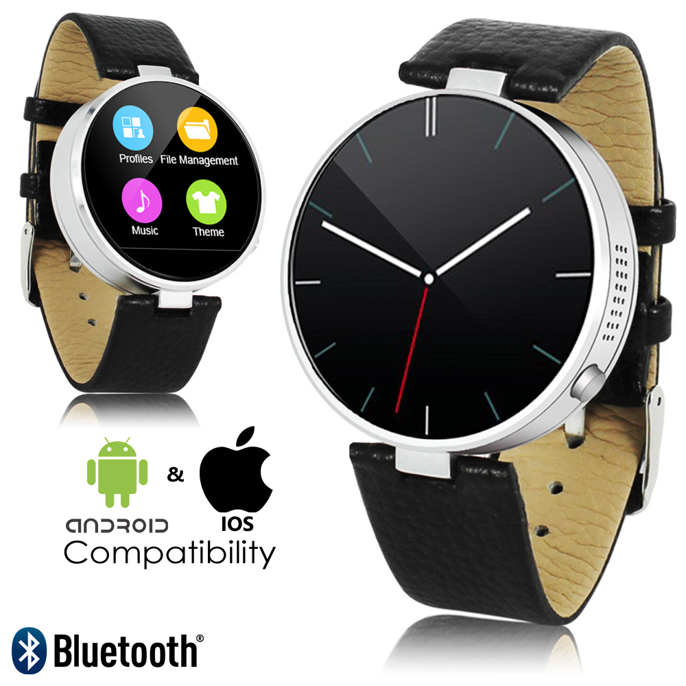 Upscale Deluxe Round Bluetooth Smart Watch + Heart Rate