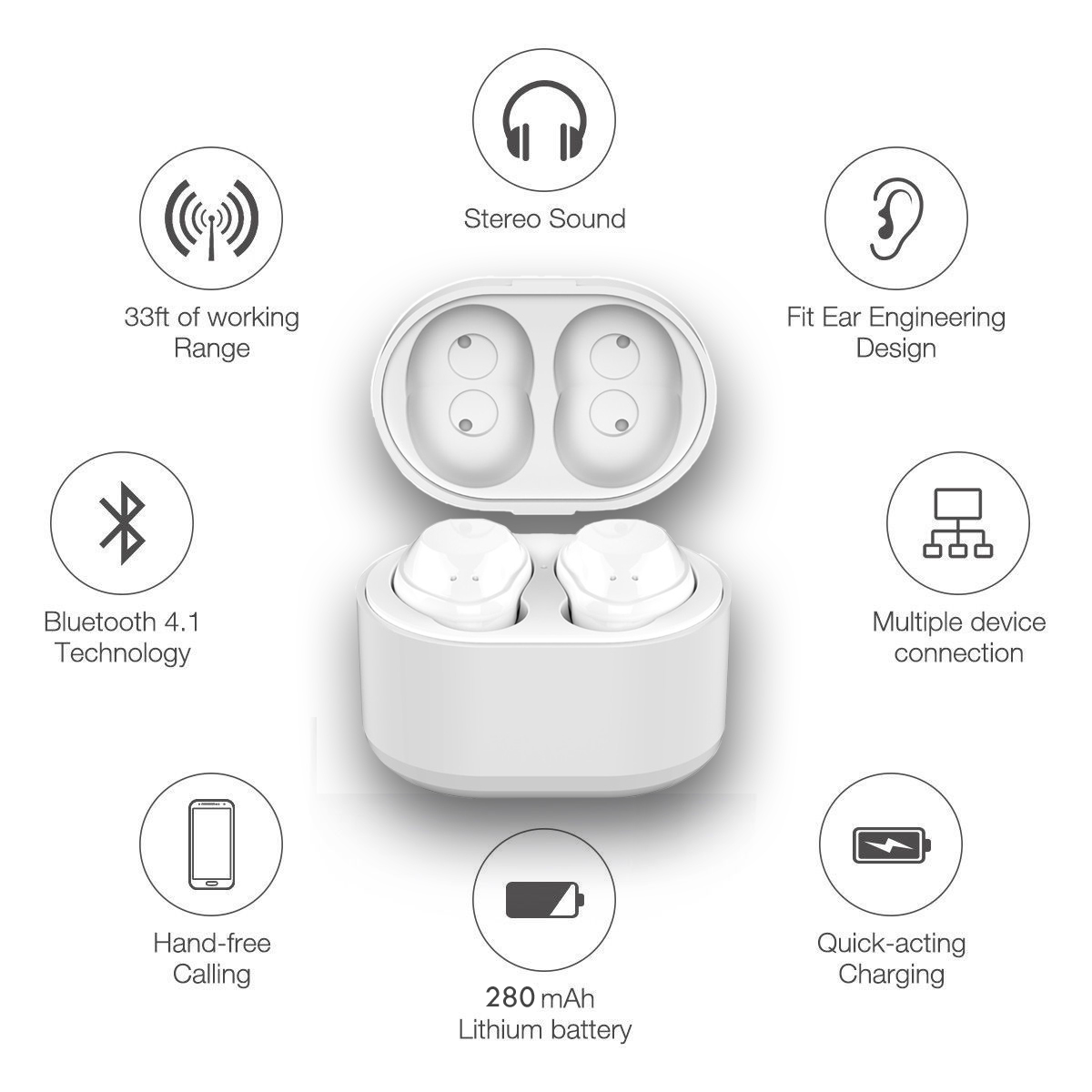 b0a59d5359e The Indigi Wireless EarPods are designed to be used with any smartphone  device. (Android or iOS) The Earbuds pair flawlessly and sync up when  playing music.