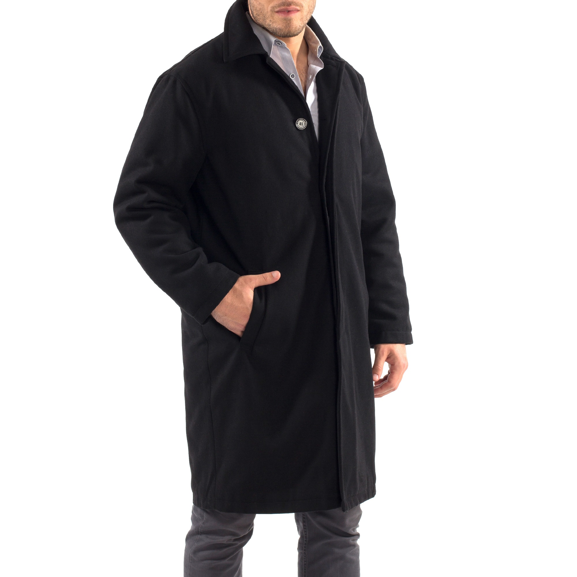 Alpine-Swiss-Mens-Zach-Knee-Length-Jacket-Top-Coat-Trench-Wool-Blend-Overcoat thumbnail 16