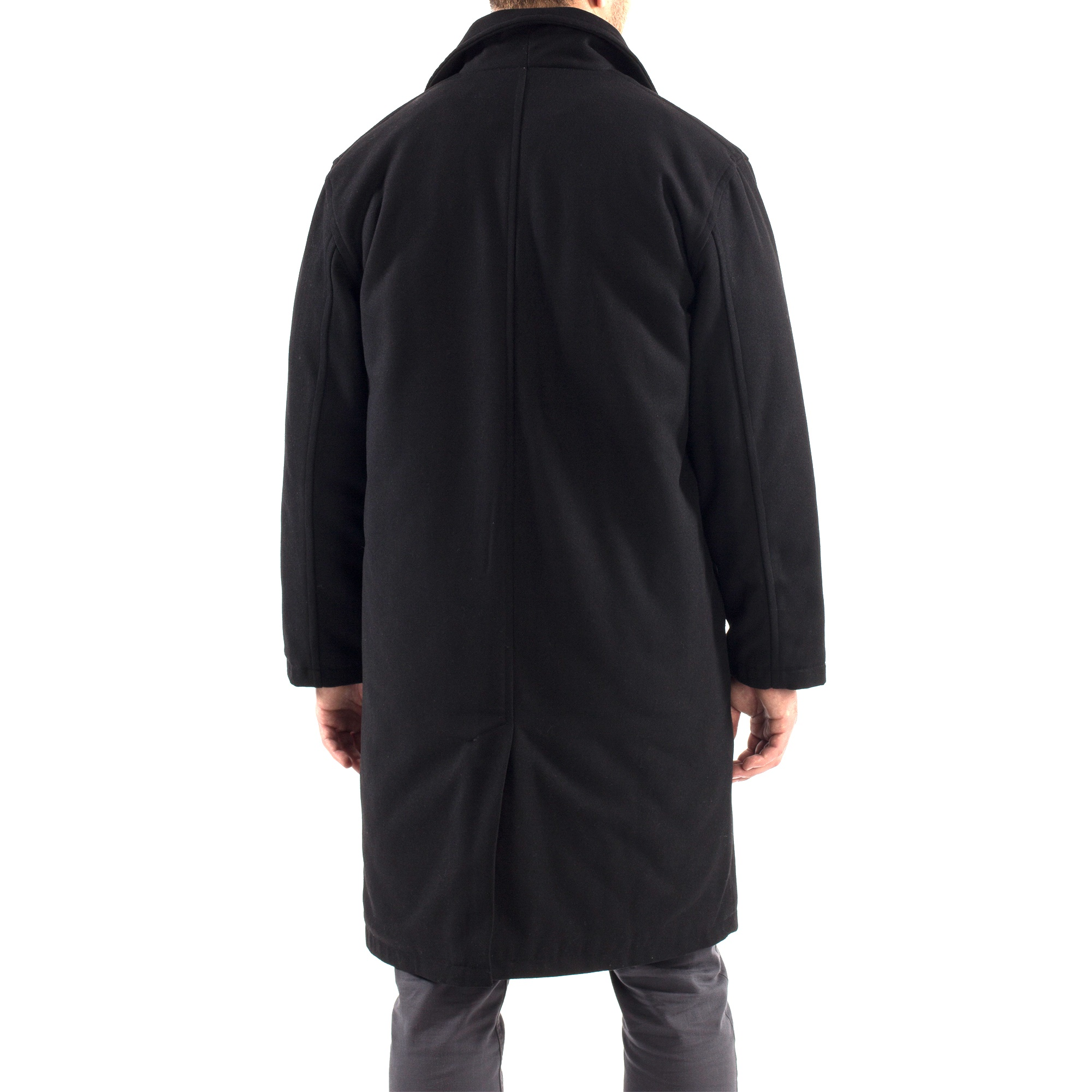 Alpine-Swiss-Mens-Zach-Knee-Length-Jacket-Top-Coat-Trench-Wool-Blend-Overcoat thumbnail 19