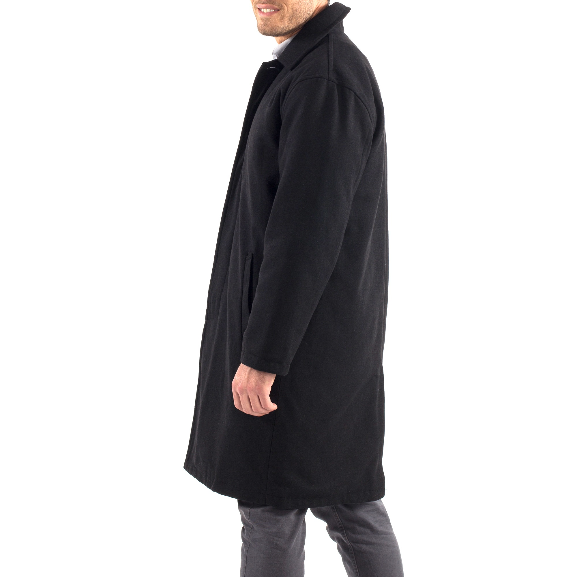 Alpine-Swiss-Mens-Zach-Knee-Length-Jacket-Top-Coat-Trench-Wool-Blend-Overcoat thumbnail 20