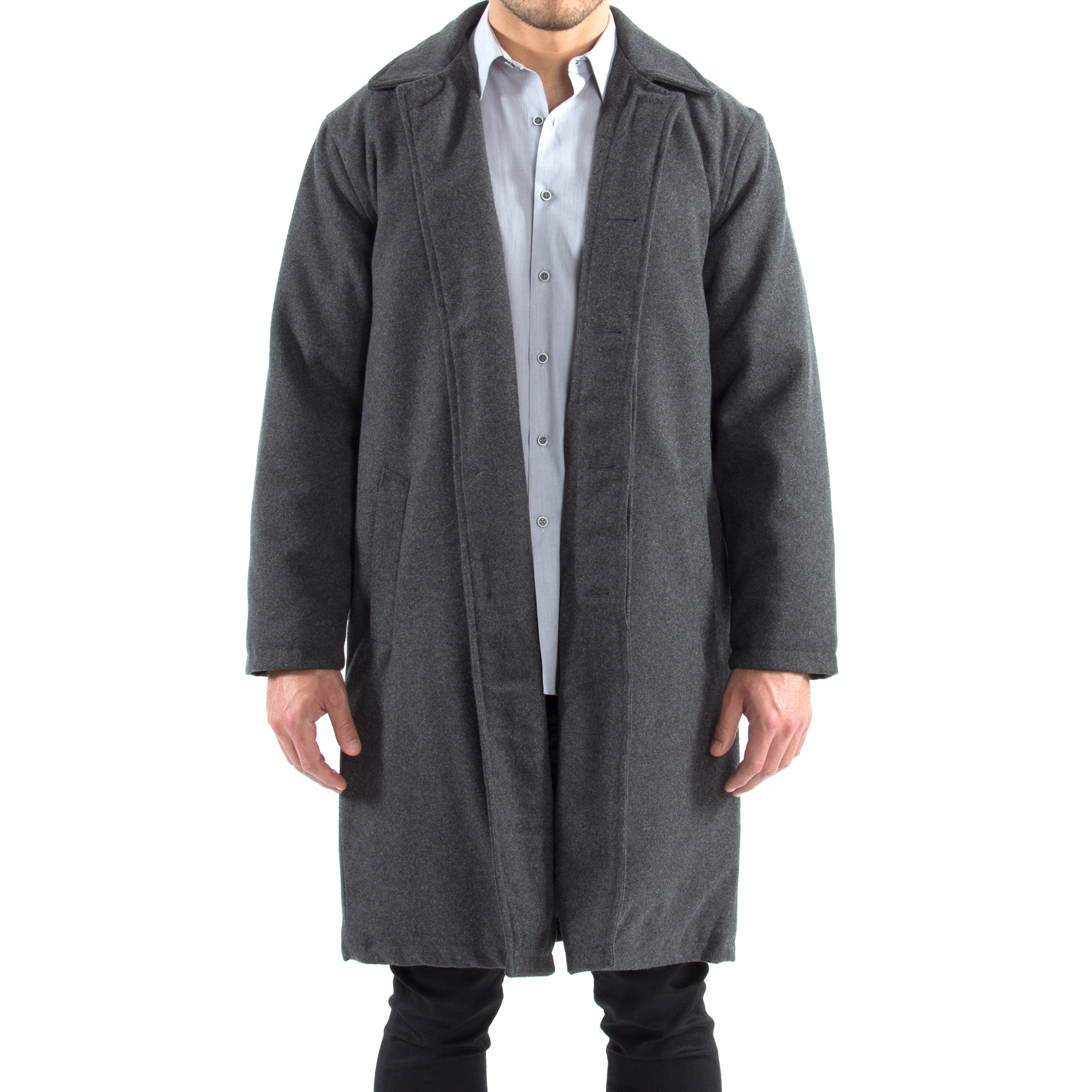Alpine-Swiss-Mens-Zach-Knee-Length-Jacket-Top-Coat-Trench-Wool-Blend-Overcoat thumbnail 38