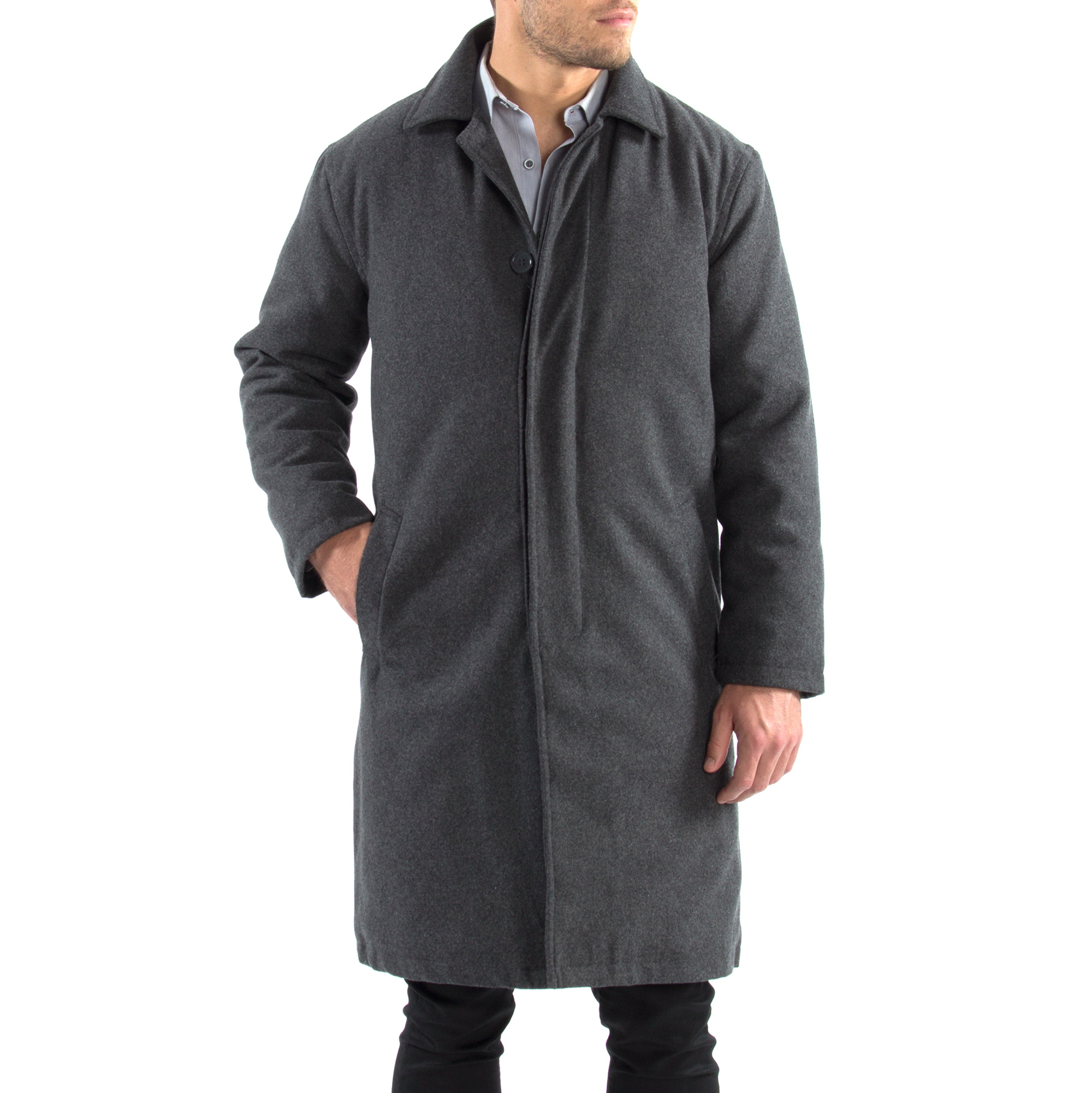 Alpine-Swiss-Mens-Zach-Knee-Length-Jacket-Top-Coat-Trench-Wool-Blend-Overcoat thumbnail 37