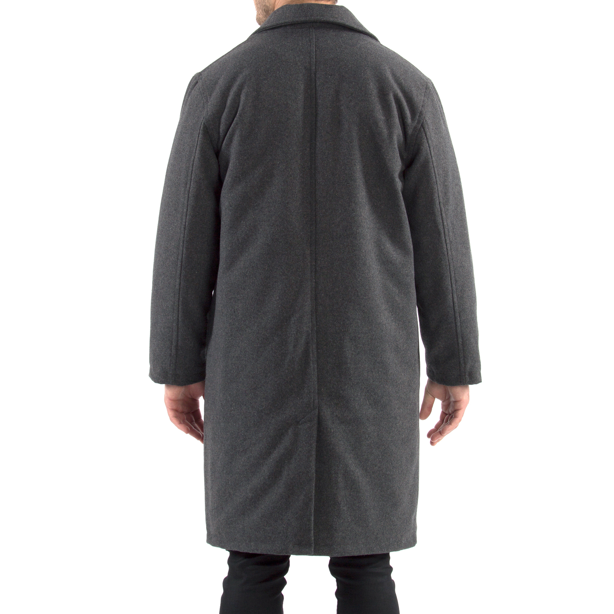 Alpine-Swiss-Mens-Zach-Knee-Length-Jacket-Top-Coat-Trench-Wool-Blend-Overcoat thumbnail 39