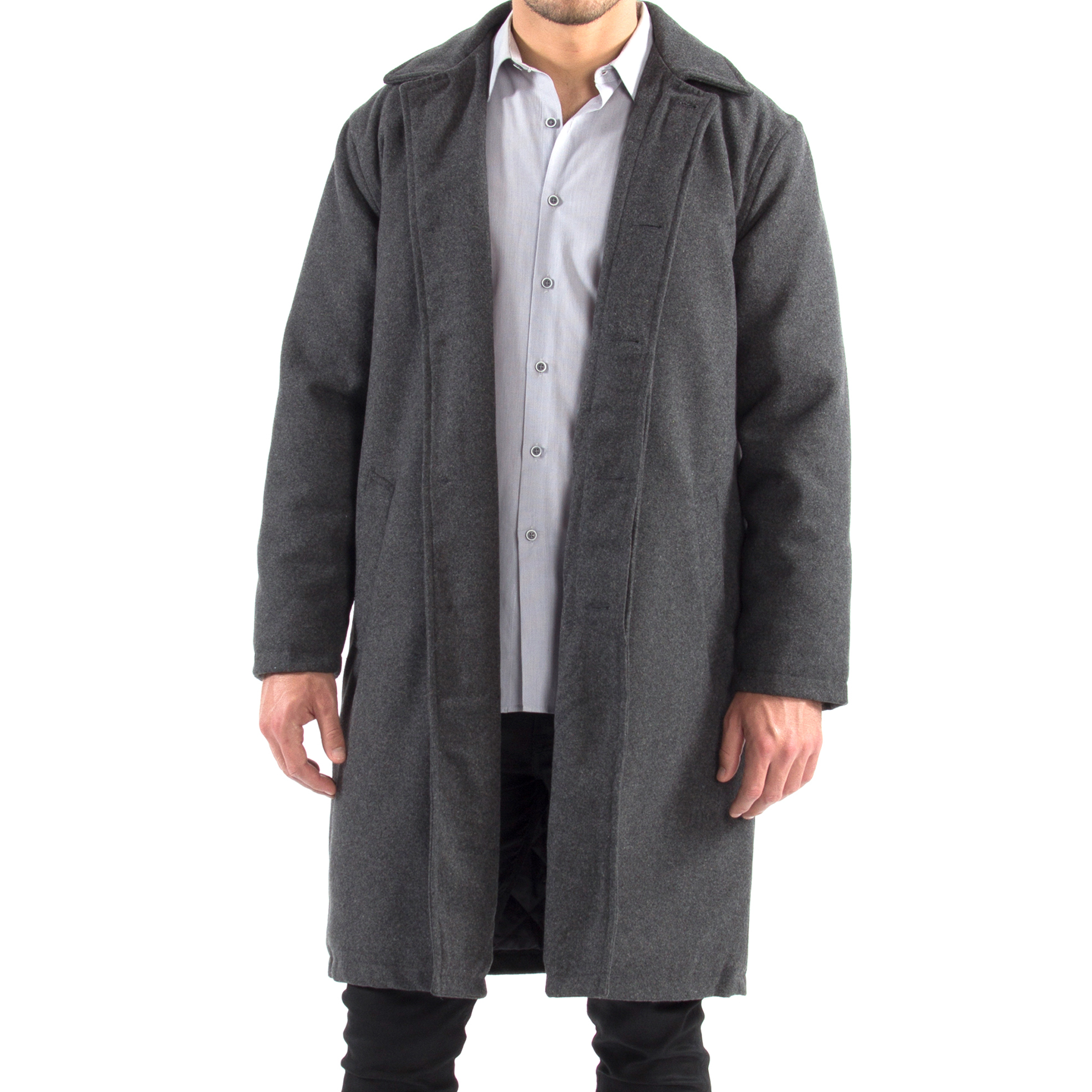 Alpine-Swiss-Mens-Zach-Knee-Length-Jacket-Top-Coat-Trench-Wool-Blend-Overcoat thumbnail 35
