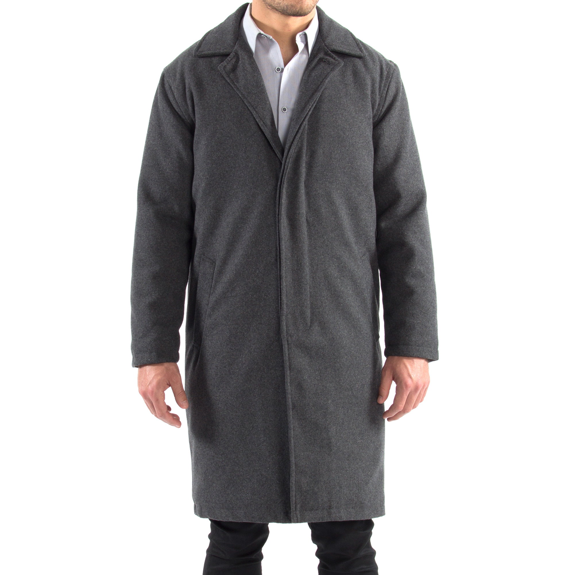 Alpine-Swiss-Mens-Zach-Knee-Length-Jacket-Top-Coat-Trench-Wool-Blend-Overcoat thumbnail 36