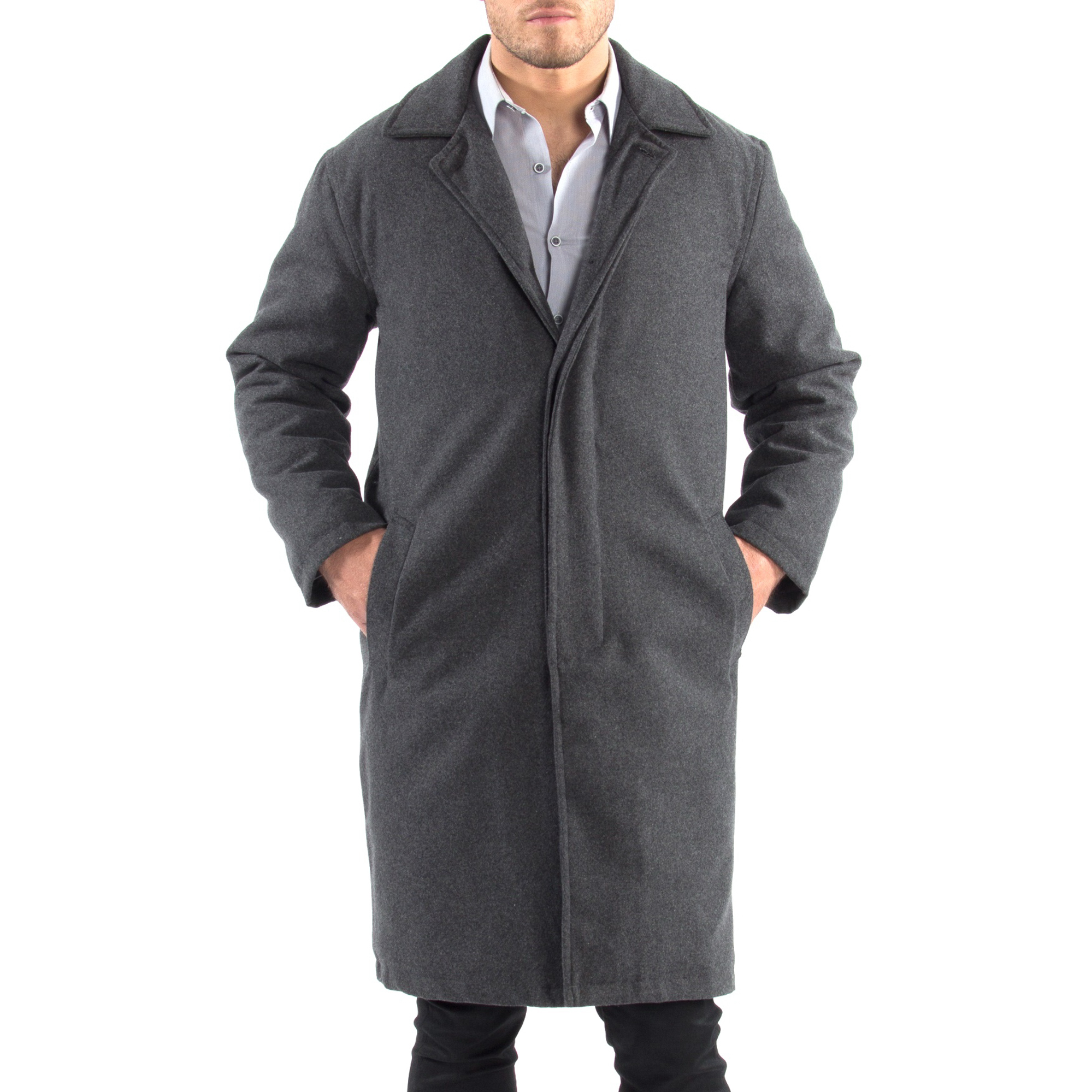 Alpine-Swiss-Mens-Zach-Knee-Length-Jacket-Top-Coat-Trench-Wool-Blend-Overcoat thumbnail 40