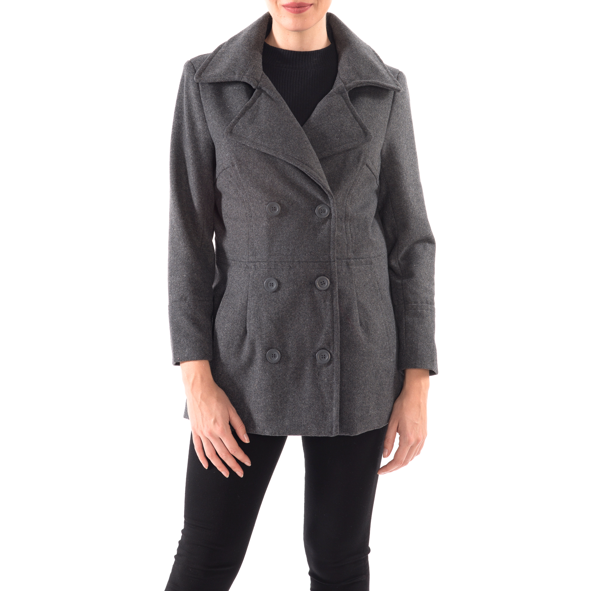 Alpine-Swiss-Emma-Womens-Peacoat-Jacket-Wool-Blazer-Double-Breasted-Overcoat-New thumbnail 43