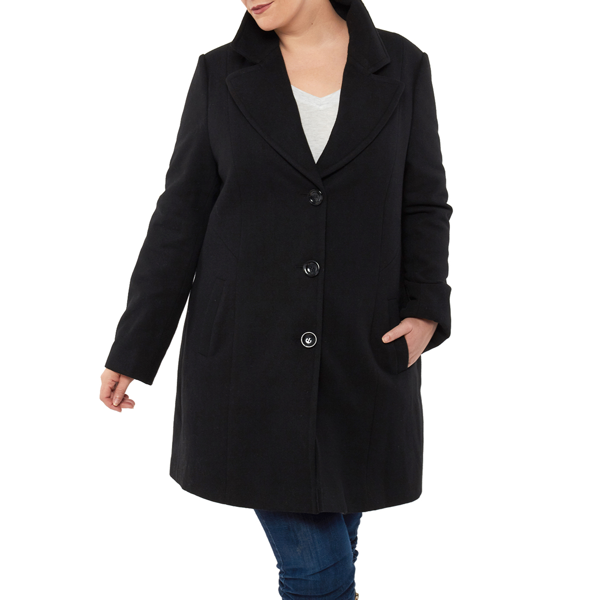 80c27f4a490 Alpine Swiss Womens Plus Size Wool Overcoat Walking Coat Blazer Pea Coat  Jacket