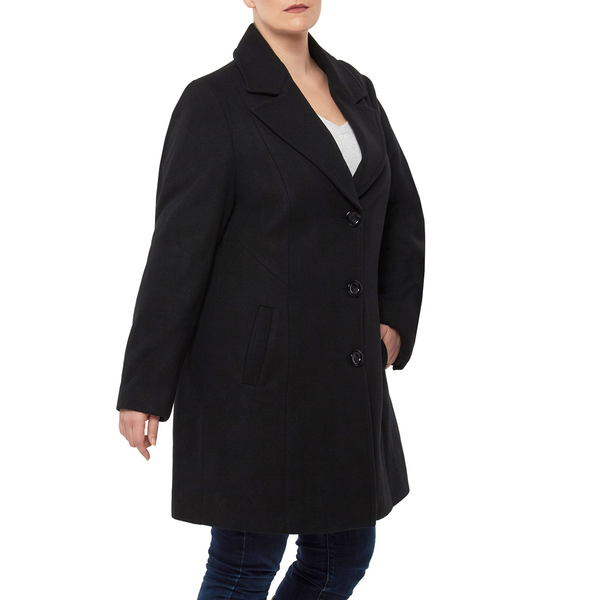 5edcf735f16 Alpine Swiss Womens Plus Size Wool Overcoat Walking Coat Blazer Pea ...