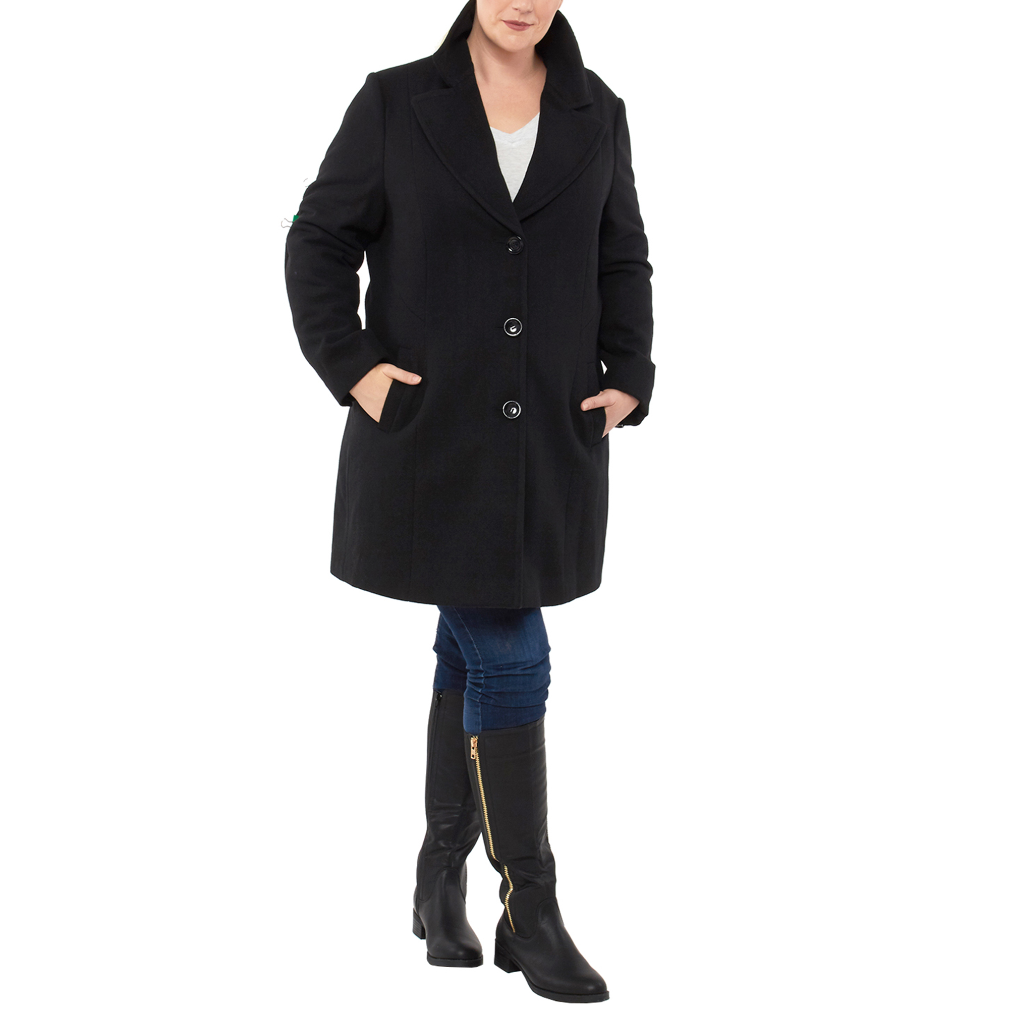 1542b7b70f1 Женская верхняя одежда Alpine Swiss Womens Plus Size Wool Overcoat Walking  Coat Blazer Pea Coat Jacket ...