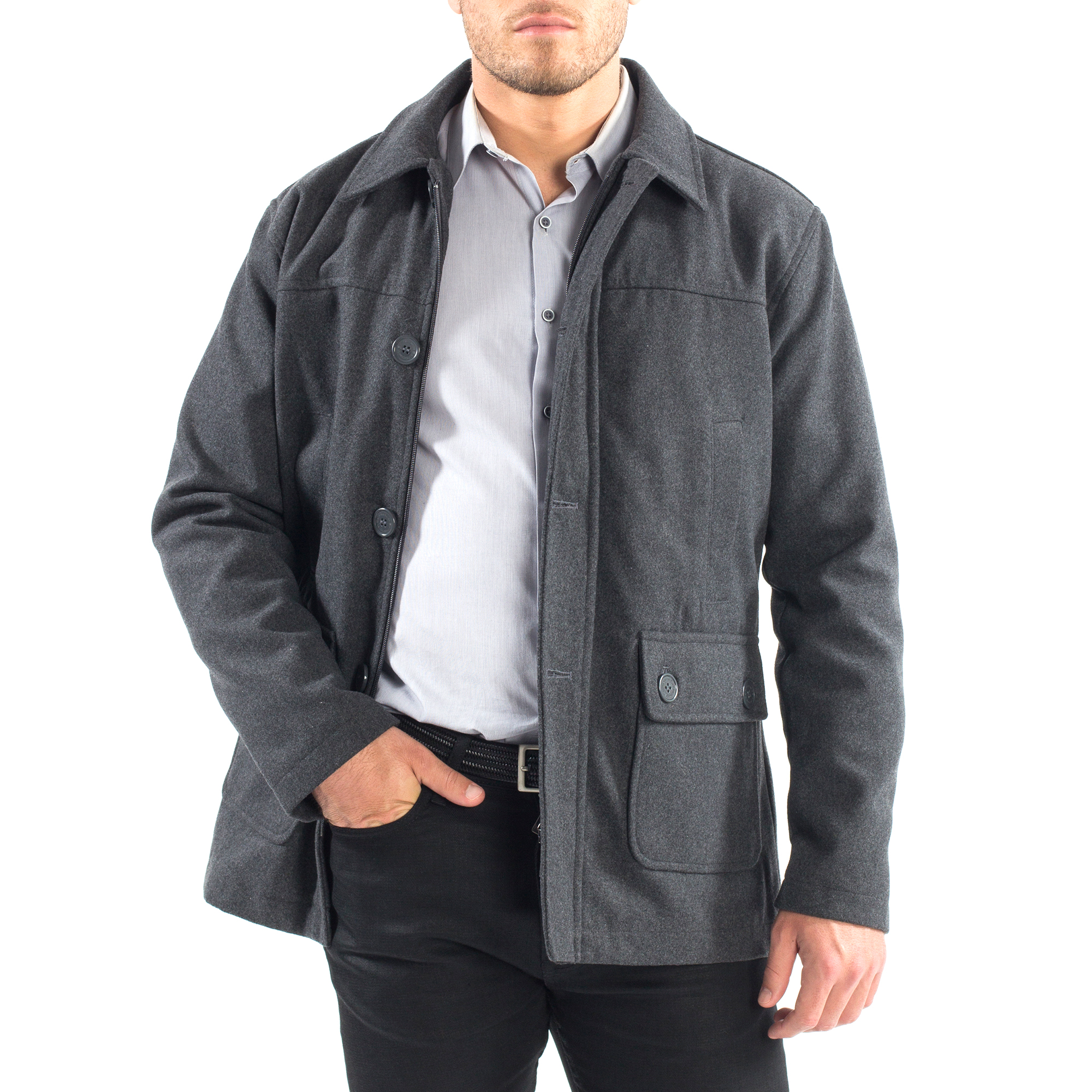 Alpine-Swiss-Wyat-Mens-Wool-Blend-Classic-Barn-Coat-Cargo-Pocket-Military-Jacket