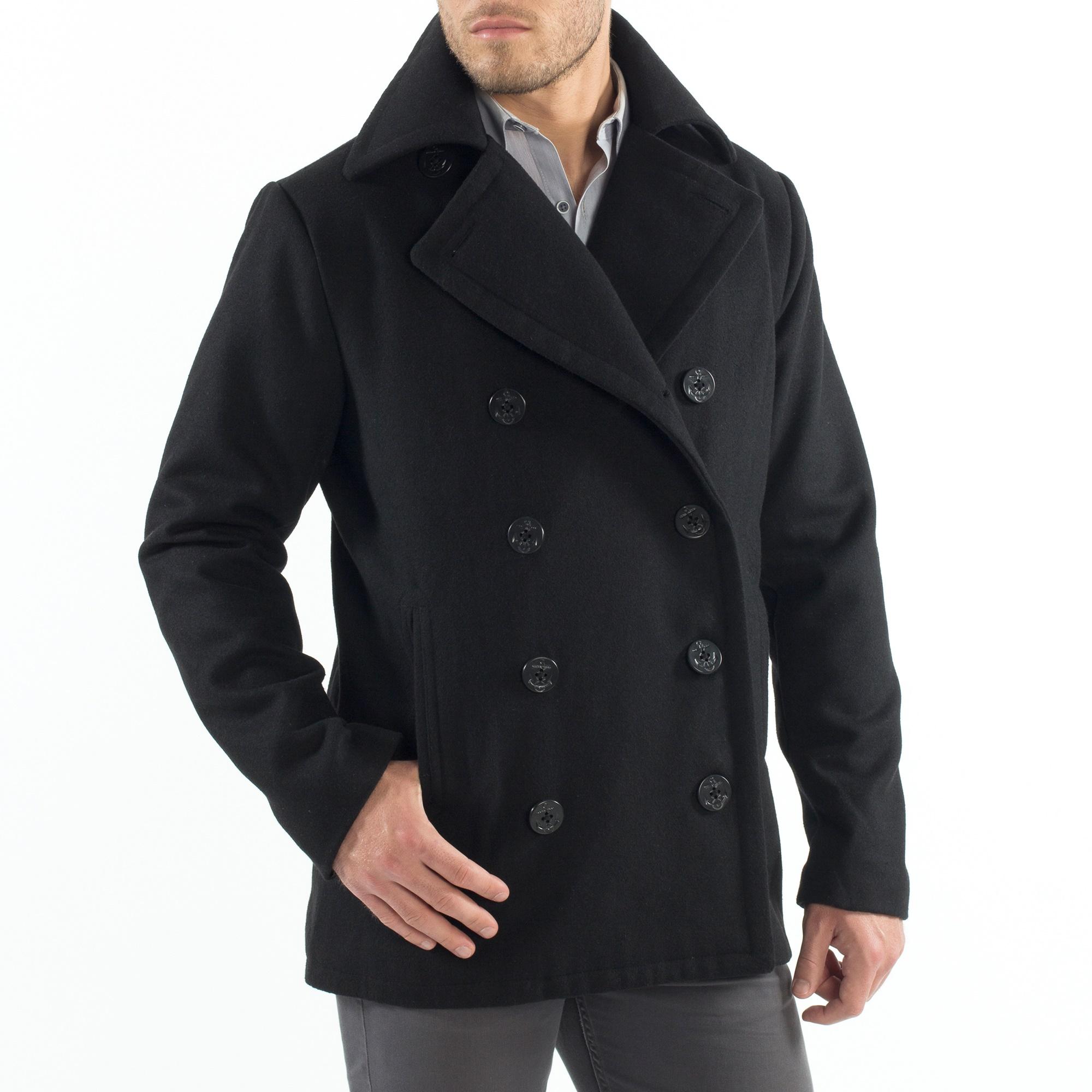 Alpine-Swiss-Mason-Mens-Wool-Blend-Pea-Coat-Jacket-Double-Breasted-Dress-Coat thumbnail 16