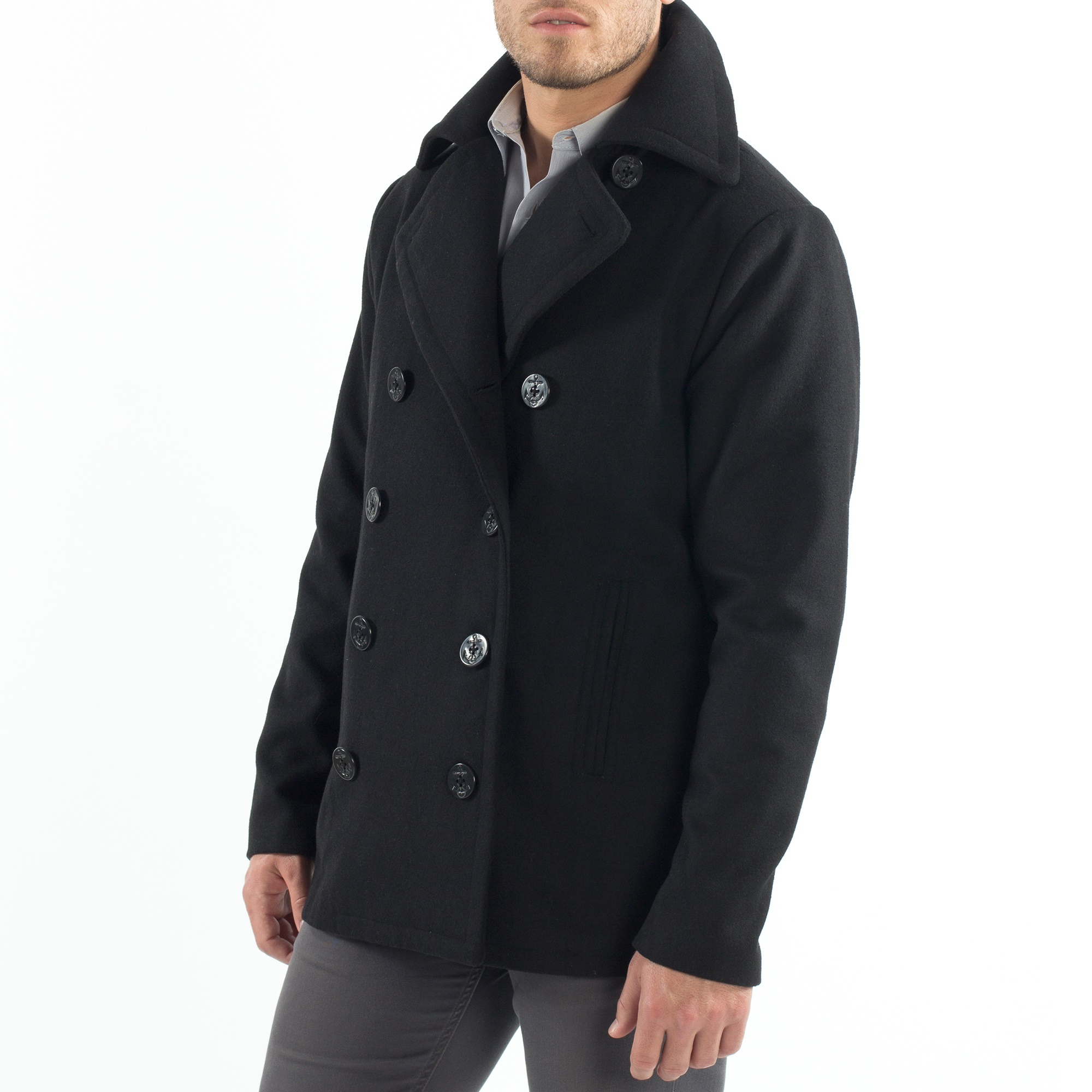 Alpine-Swiss-Mason-Mens-Wool-Blend-Pea-Coat-Jacket-Double-Breasted-Dress-Coat thumbnail 18