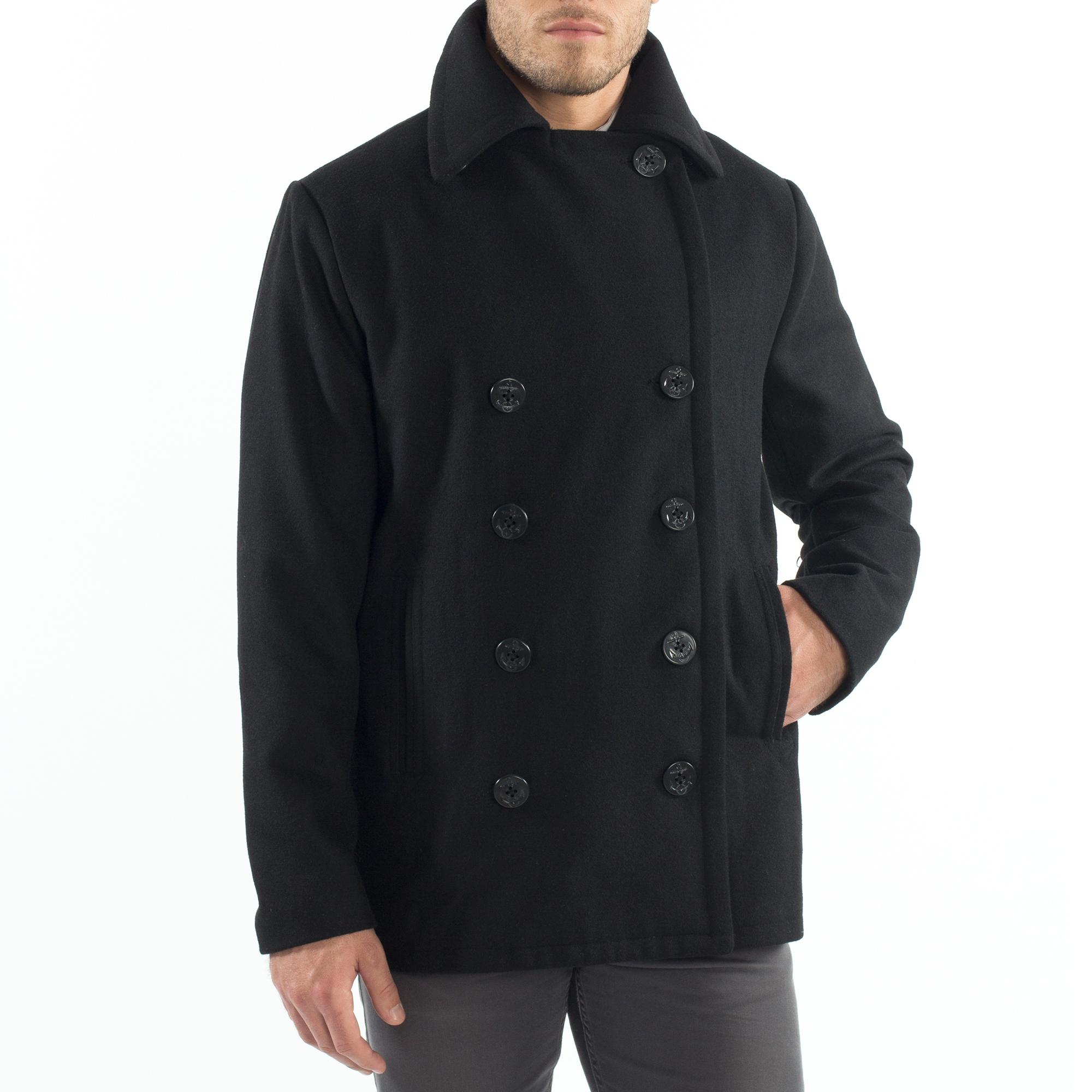 Alpine-Swiss-Mason-Mens-Wool-Blend-Pea-Coat-Jacket-Double-Breasted-Dress-Coat thumbnail 17