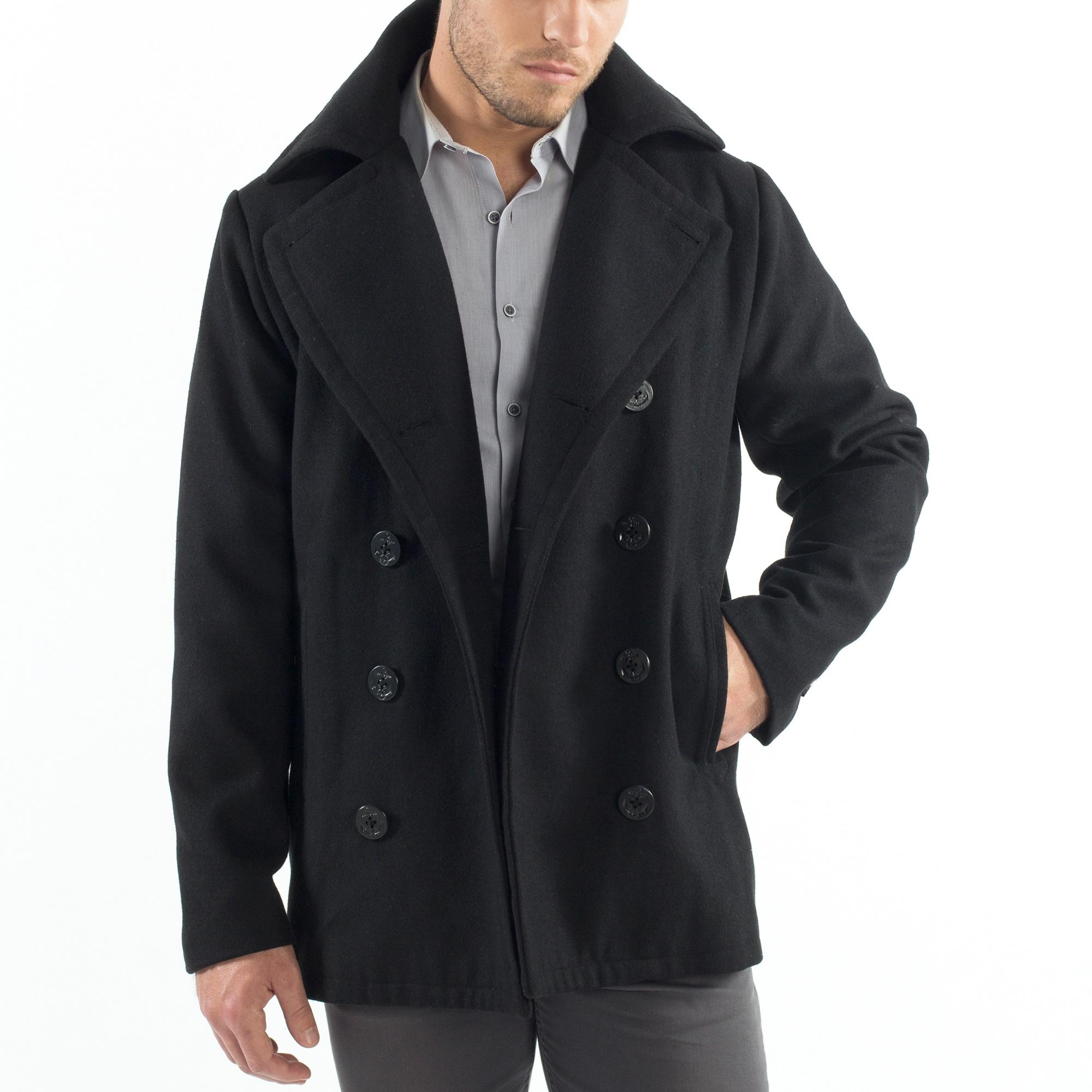 Alpine-Swiss-Mason-Mens-Wool-Blend-Pea-Coat-Jacket-Double-Breasted-Dress-Coat thumbnail 20