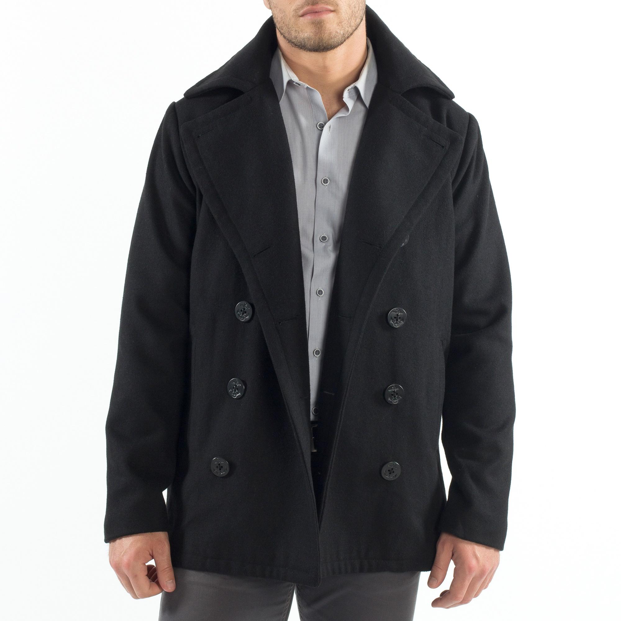 Alpine-Swiss-Mason-Mens-Wool-Blend-Pea-Coat-Jacket-Double-Breasted-Dress-Coat thumbnail 15