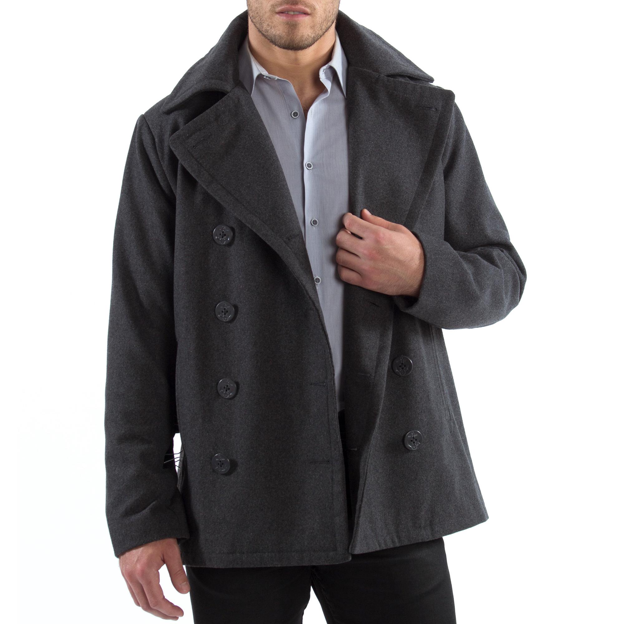Alpine-Swiss-Mason-Mens-Wool-Blend-Pea-Coat-Jacket-Double-Breasted-Dress-Coat thumbnail 29