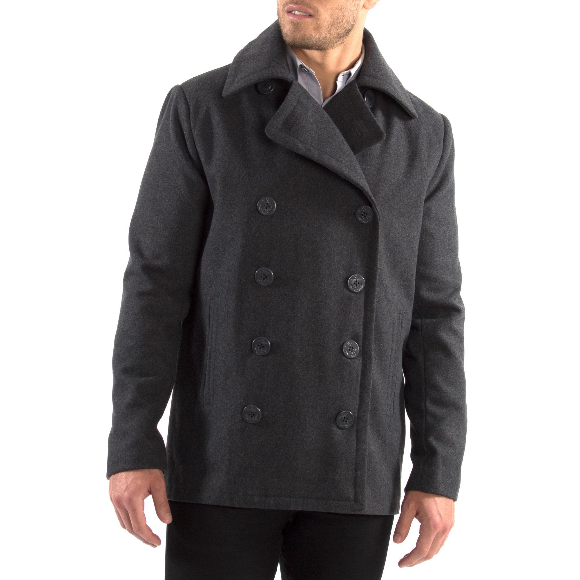 Alpine-Swiss-Mason-Mens-Wool-Blend-Pea-Coat-Jacket-Double-Breasted-Dress-Coat thumbnail 26
