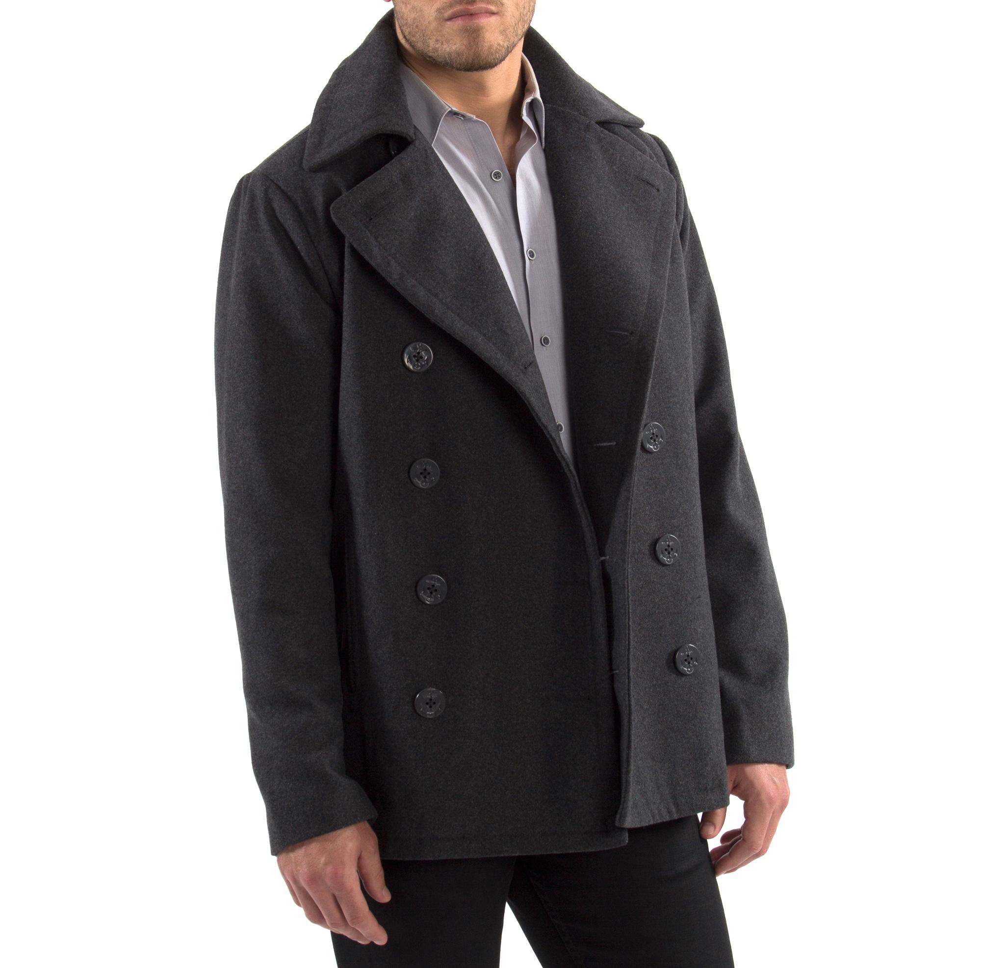 Alpine-Swiss-Mason-Mens-Wool-Blend-Pea-Coat-Jacket-Double-Breasted-Dress-Coat thumbnail 25