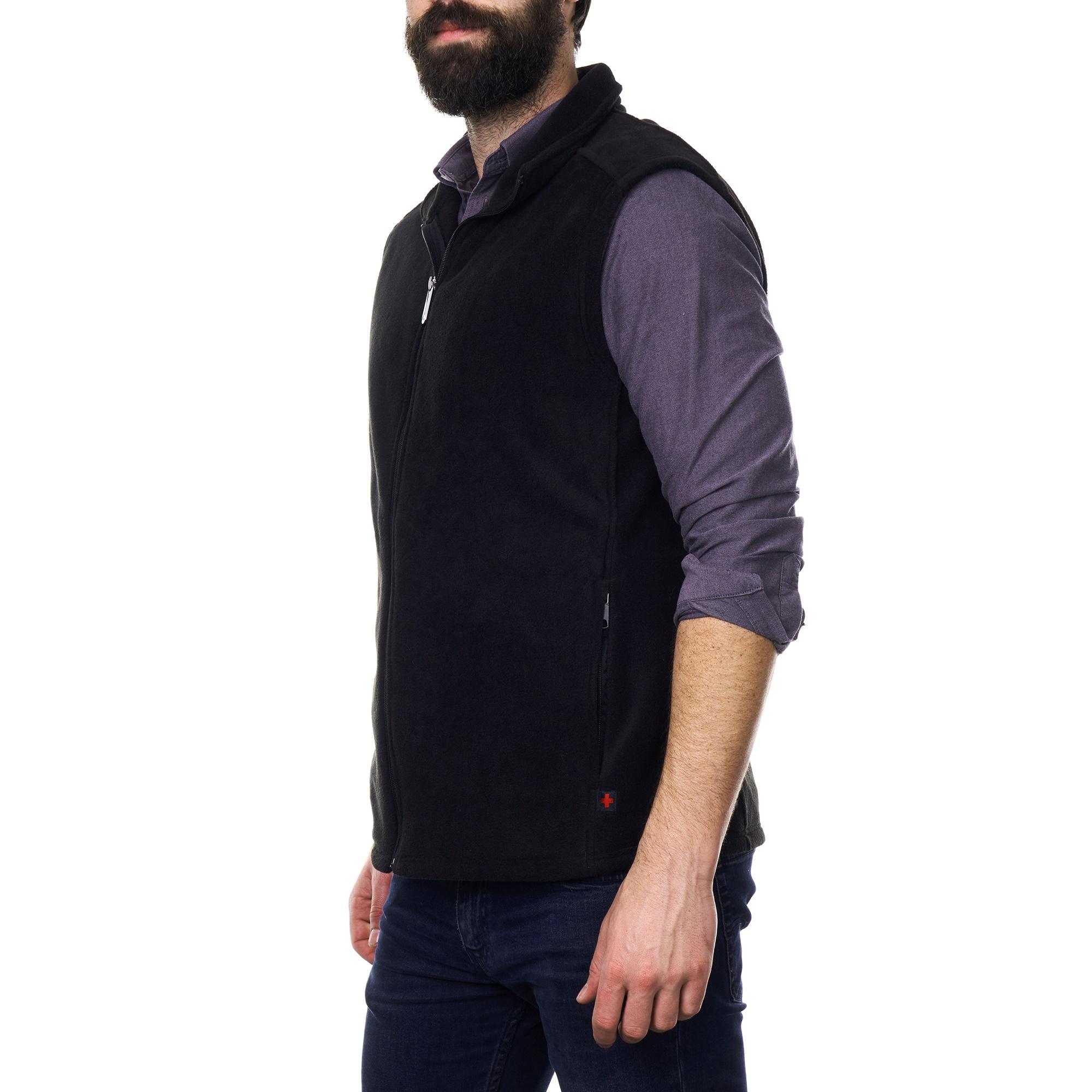 Alpine-Swiss-Mens-Full-Zip-Up-Fleece-Vest-Lightweight-Warm-Sleeveless-Jacket thumbnail 16
