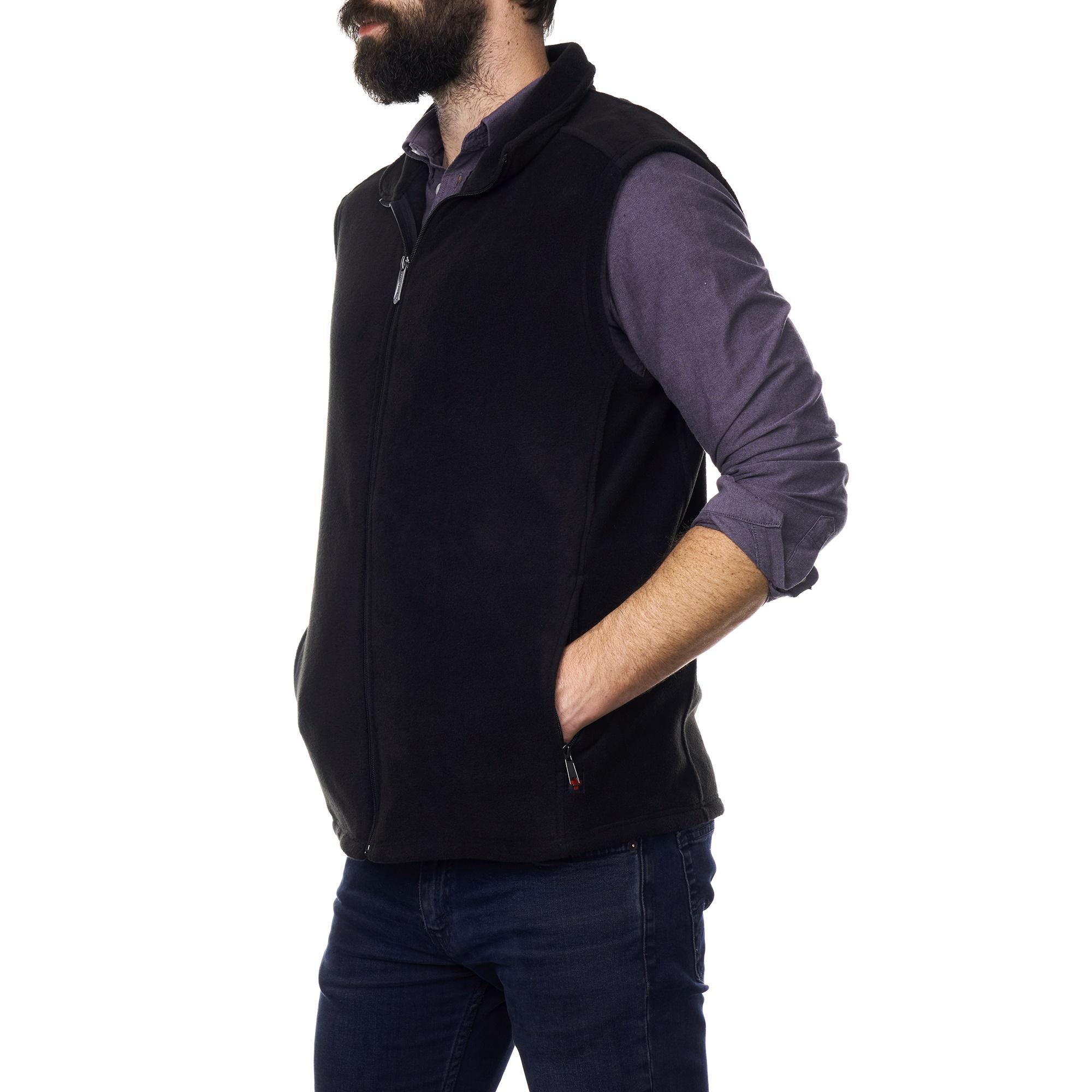 Alpine-Swiss-Mens-Full-Zip-Up-Fleece-Vest-Lightweight-Warm-Sleeveless-Jacket thumbnail 14