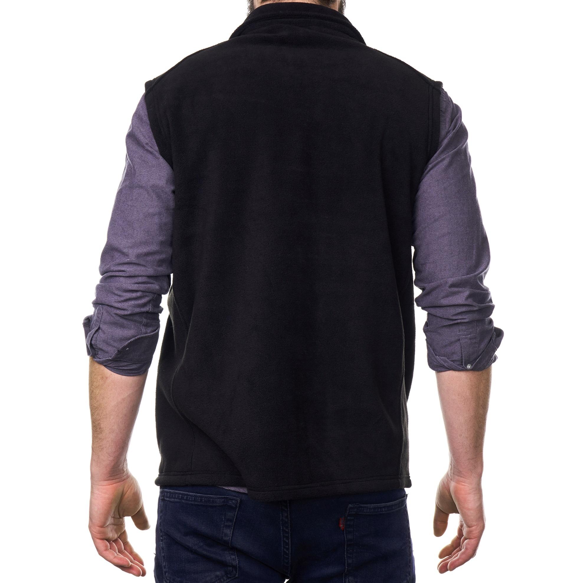 Alpine-Swiss-Mens-Full-Zip-Up-Fleece-Vest-Lightweight-Warm-Sleeveless-Jacket thumbnail 17
