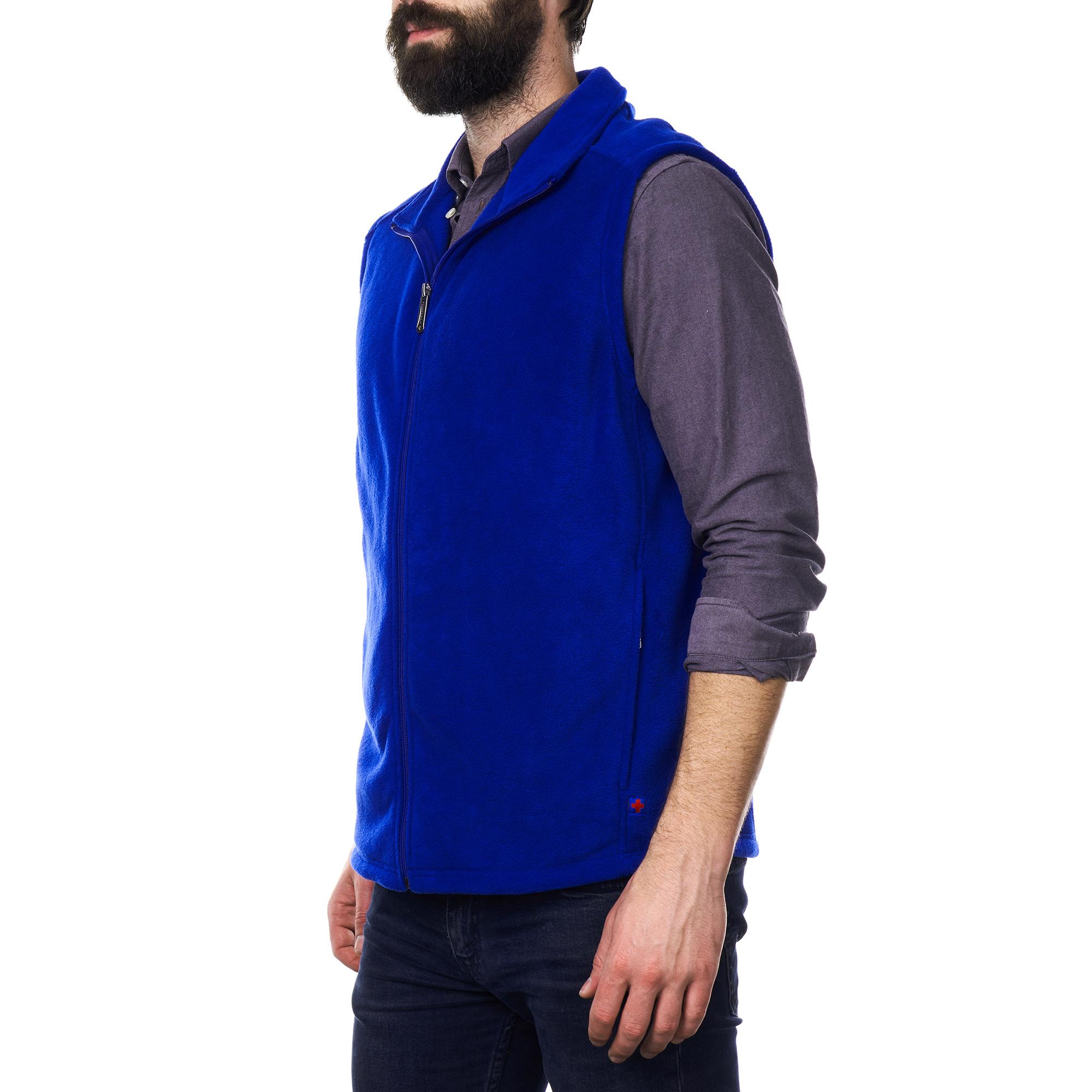 Alpine-Swiss-Mens-Full-Zip-Up-Fleece-Vest-Lightweight-Warm-Sleeveless-Jacket thumbnail 23
