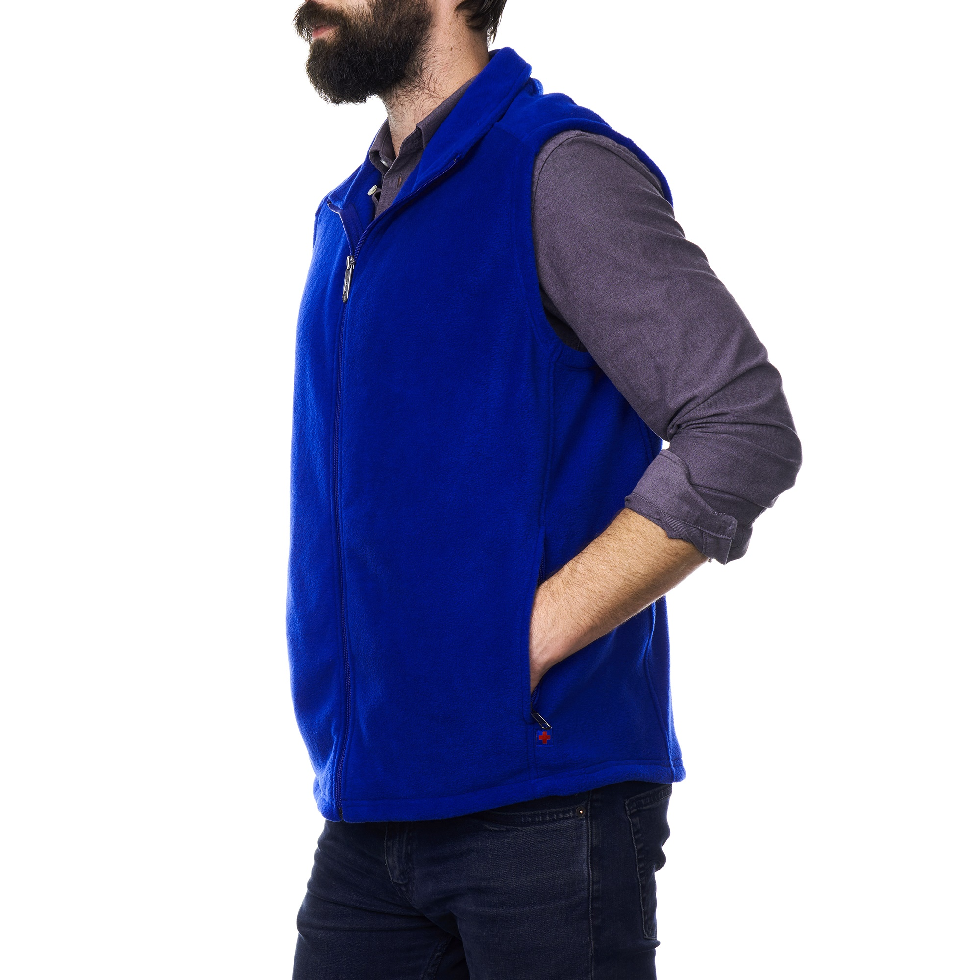 Alpine-Swiss-Mens-Full-Zip-Up-Fleece-Vest-Lightweight-Warm-Sleeveless-Jacket thumbnail 21