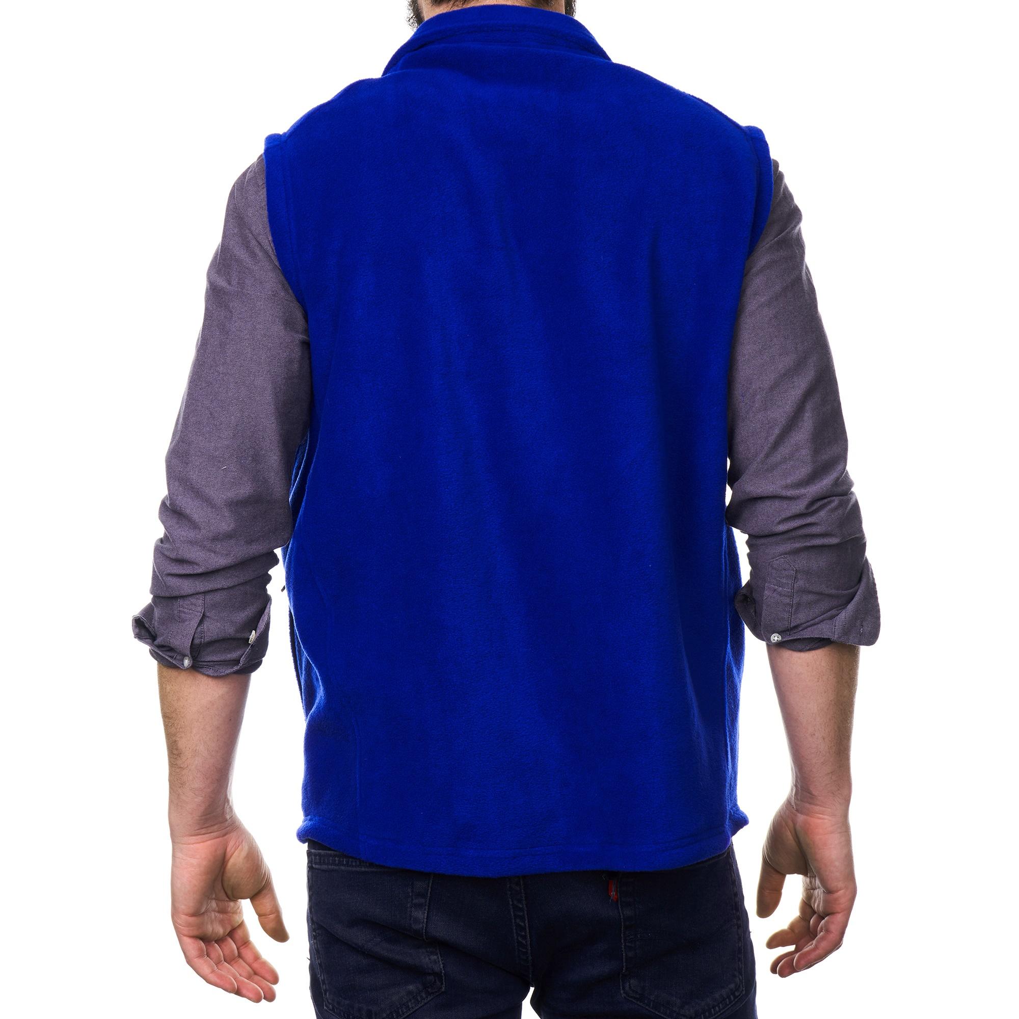Alpine-Swiss-Mens-Full-Zip-Up-Fleece-Vest-Lightweight-Warm-Sleeveless-Jacket thumbnail 24