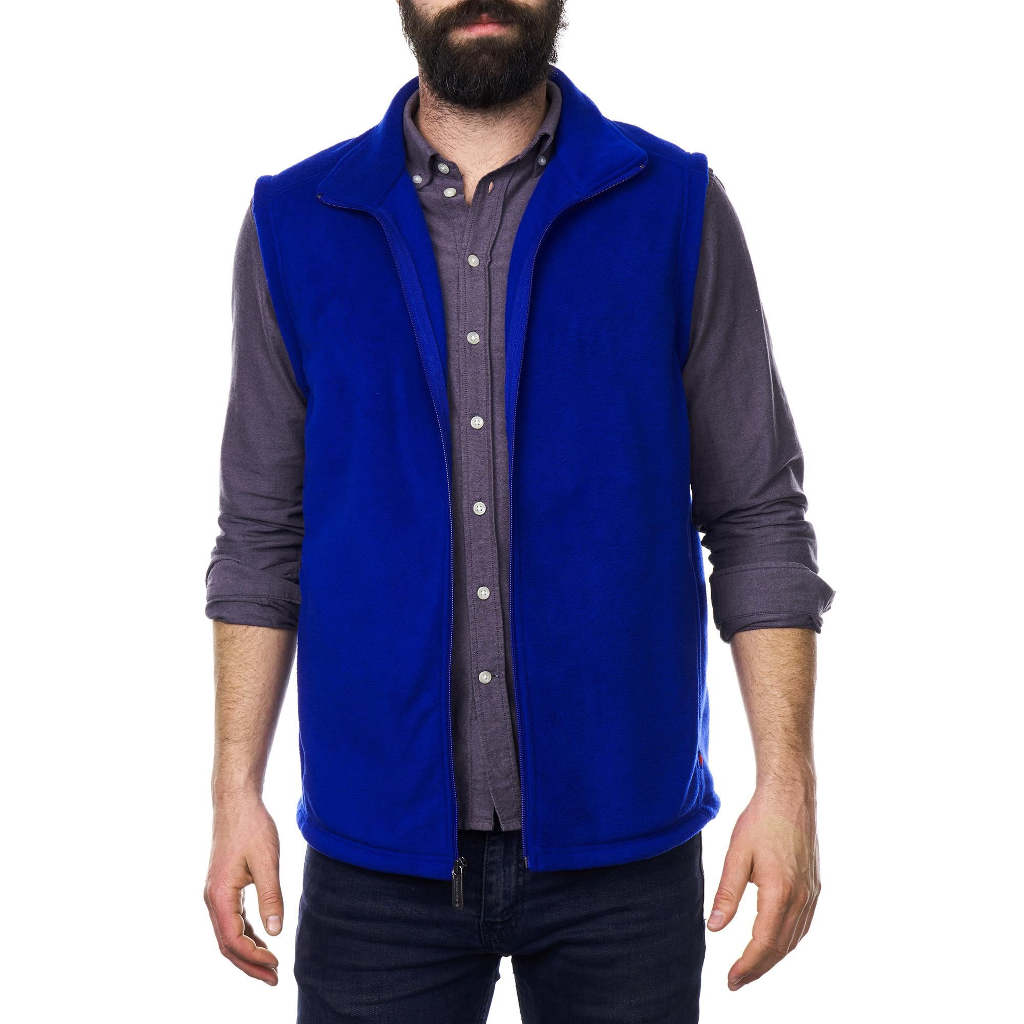 Alpine-Swiss-Mens-Full-Zip-Up-Fleece-Vest-Lightweight-Warm-Sleeveless-Jacket thumbnail 22