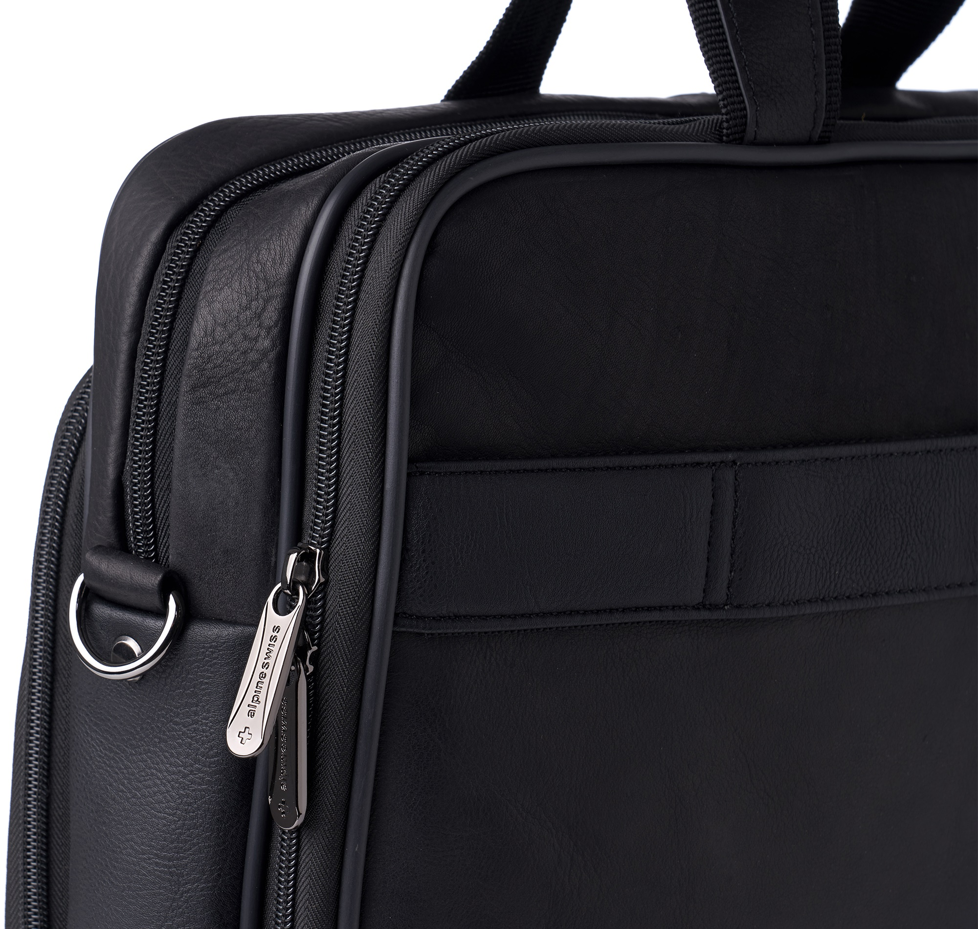 a7a166939 Alpine Swiss Messenger Bag Leather 15.6 Laptop Briefcase Portfolio ...