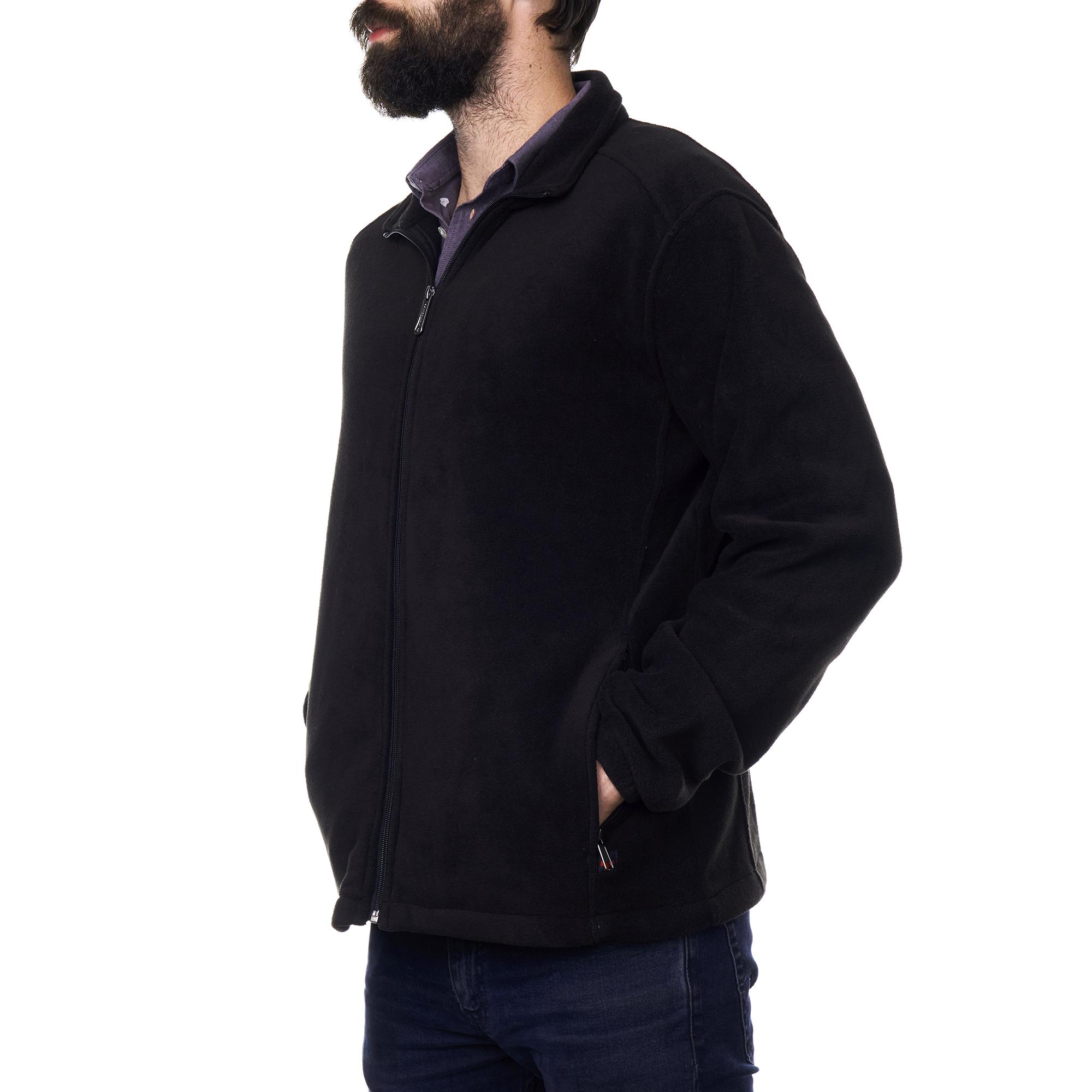 Alpine-Swiss-Trent-Mens-Full-Zip-Up-Fleece-Jacket-Soft-Casual-Warm-Zipper-Coat thumbnail 15