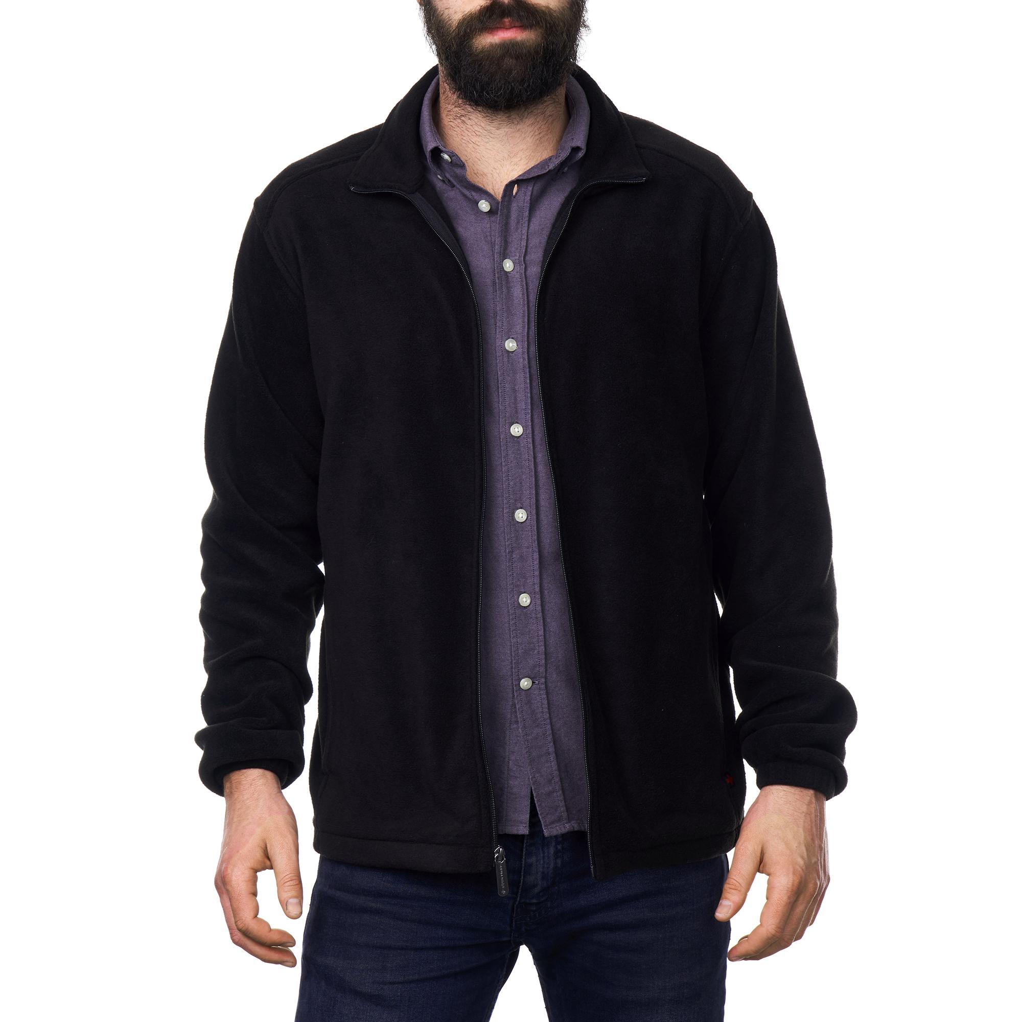 Alpine-Swiss-Trent-Mens-Full-Zip-Up-Fleece-Jacket-Soft-Casual-Warm-Zipper-Coat thumbnail 16