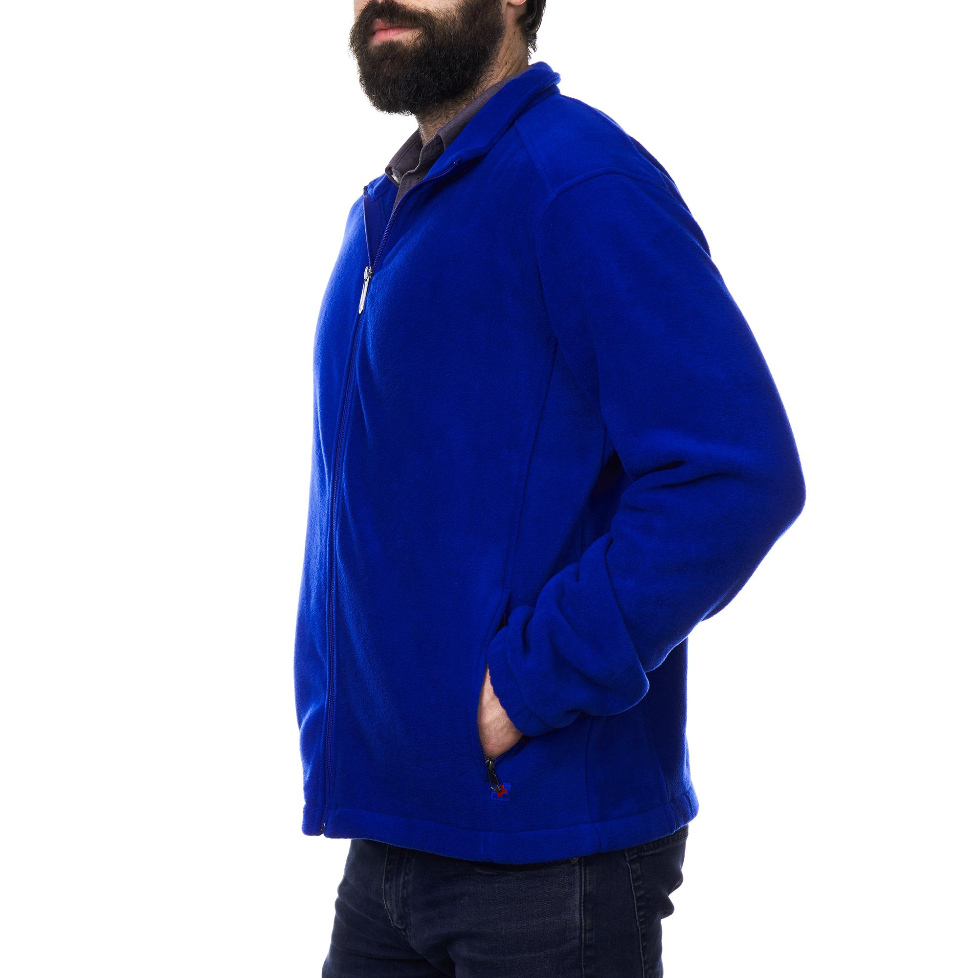 Alpine-Swiss-Trent-Mens-Full-Zip-Up-Fleece-Jacket-Soft-Casual-Warm-Zipper-Coat thumbnail 21