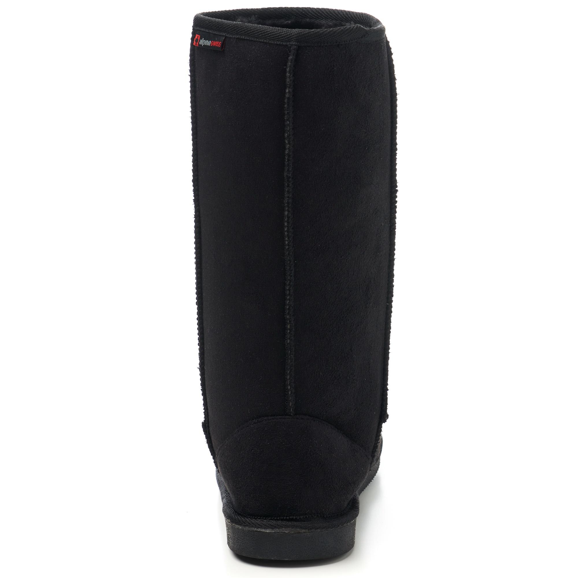 Alpine-Swiss-Women-Boots-MidCalf-12-034-Aussie-Classic-Faux-Shearling-Sheepskin-Fur